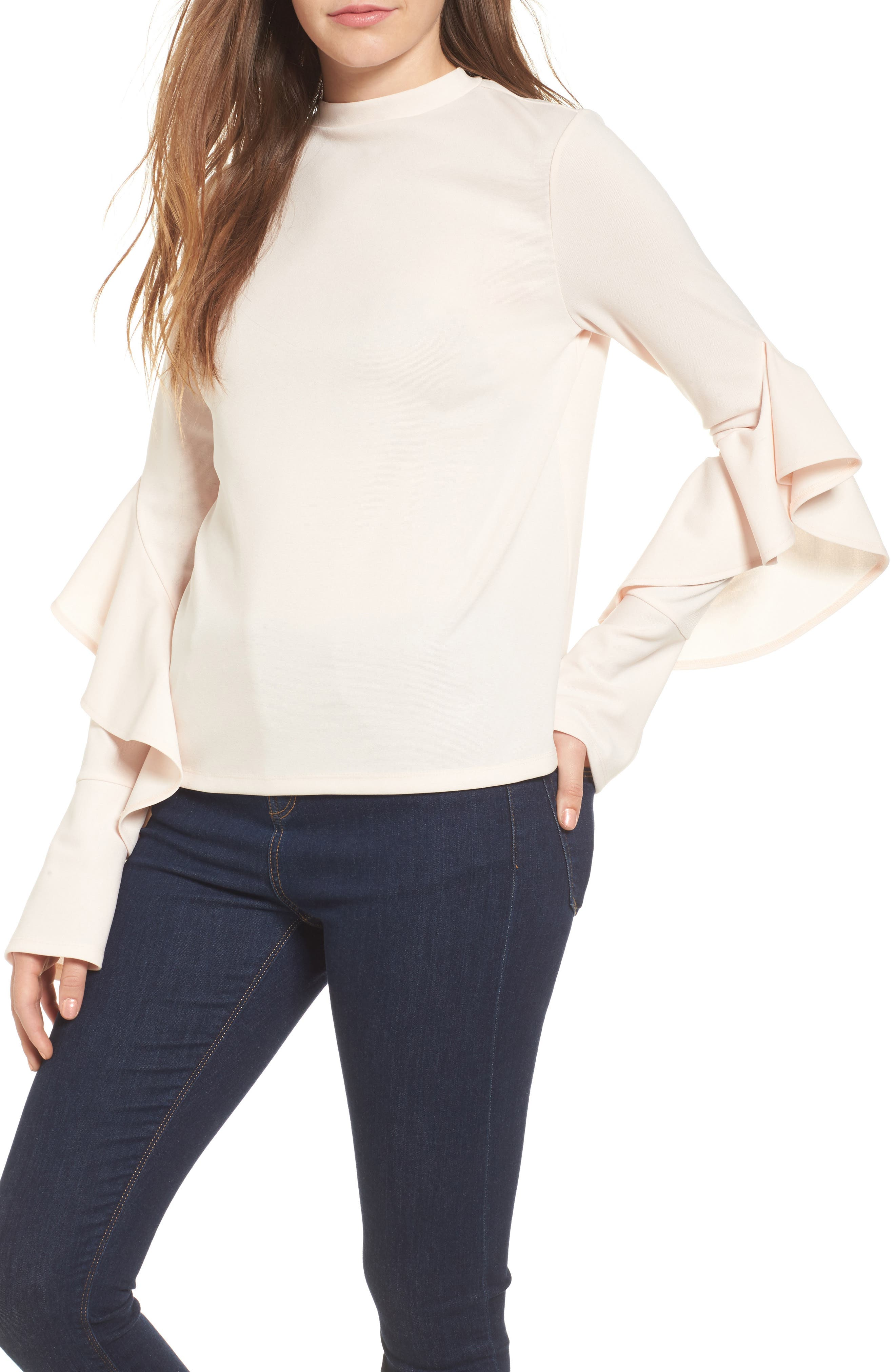 Main Image - Leith Ruffle Sleeve Top