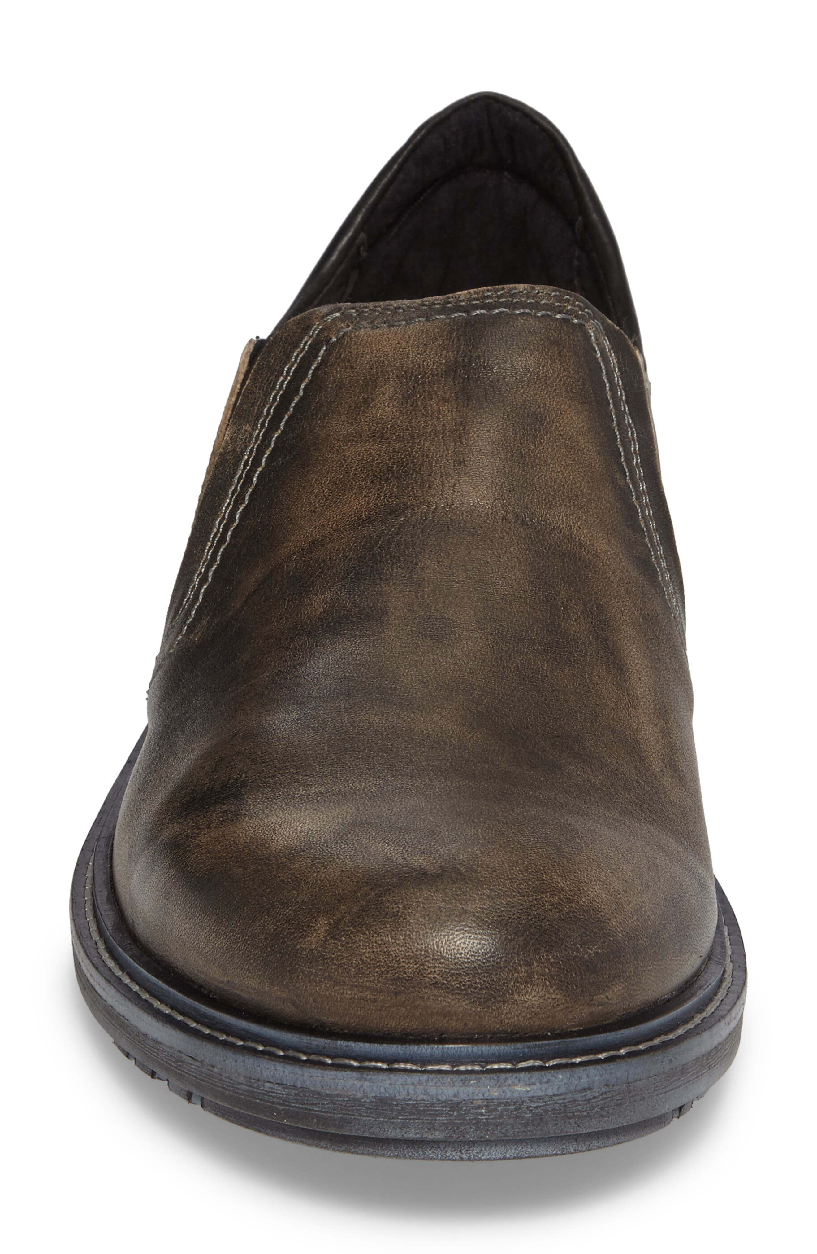 Manyara Slip-On Loafer,                             Alternate thumbnail 4, color,                             Vintage Grey Leather