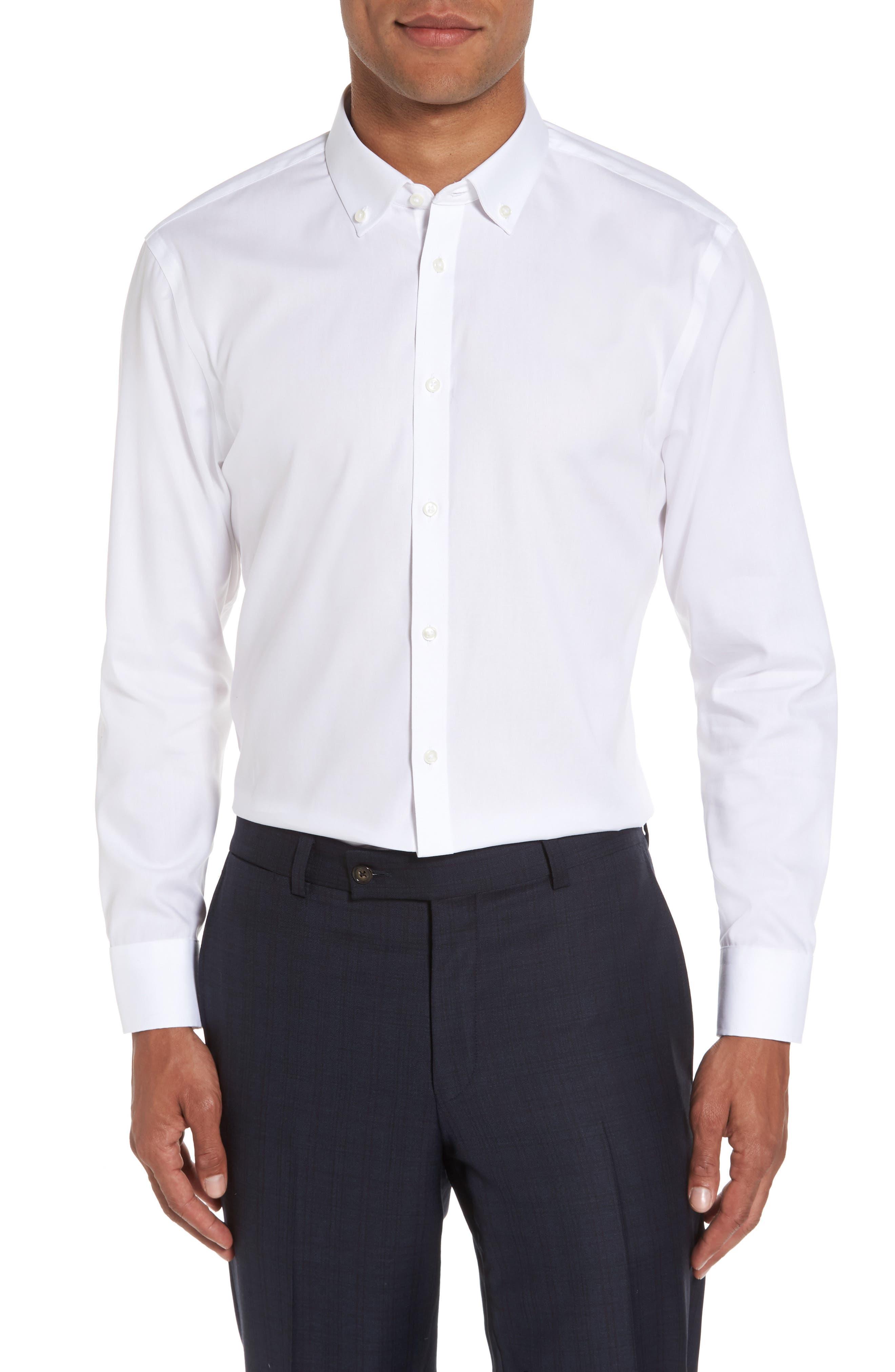 Alternate Image 2  - Nordstrom Men's Shop Extra Trim Fit Non-Iron Solid Dress Shirt