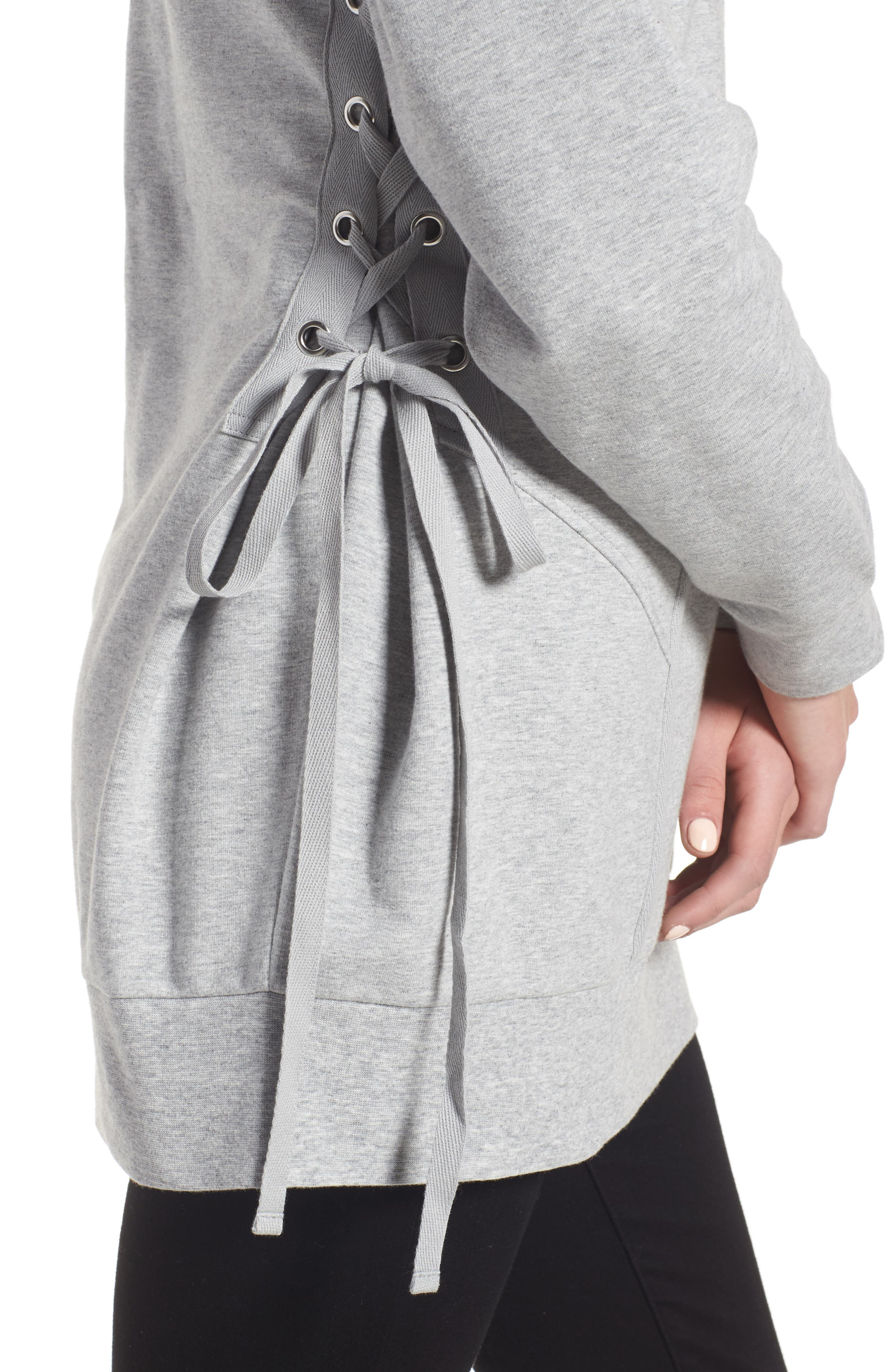 Alternate Image 4  - Trouvé Corset Sweatshirt