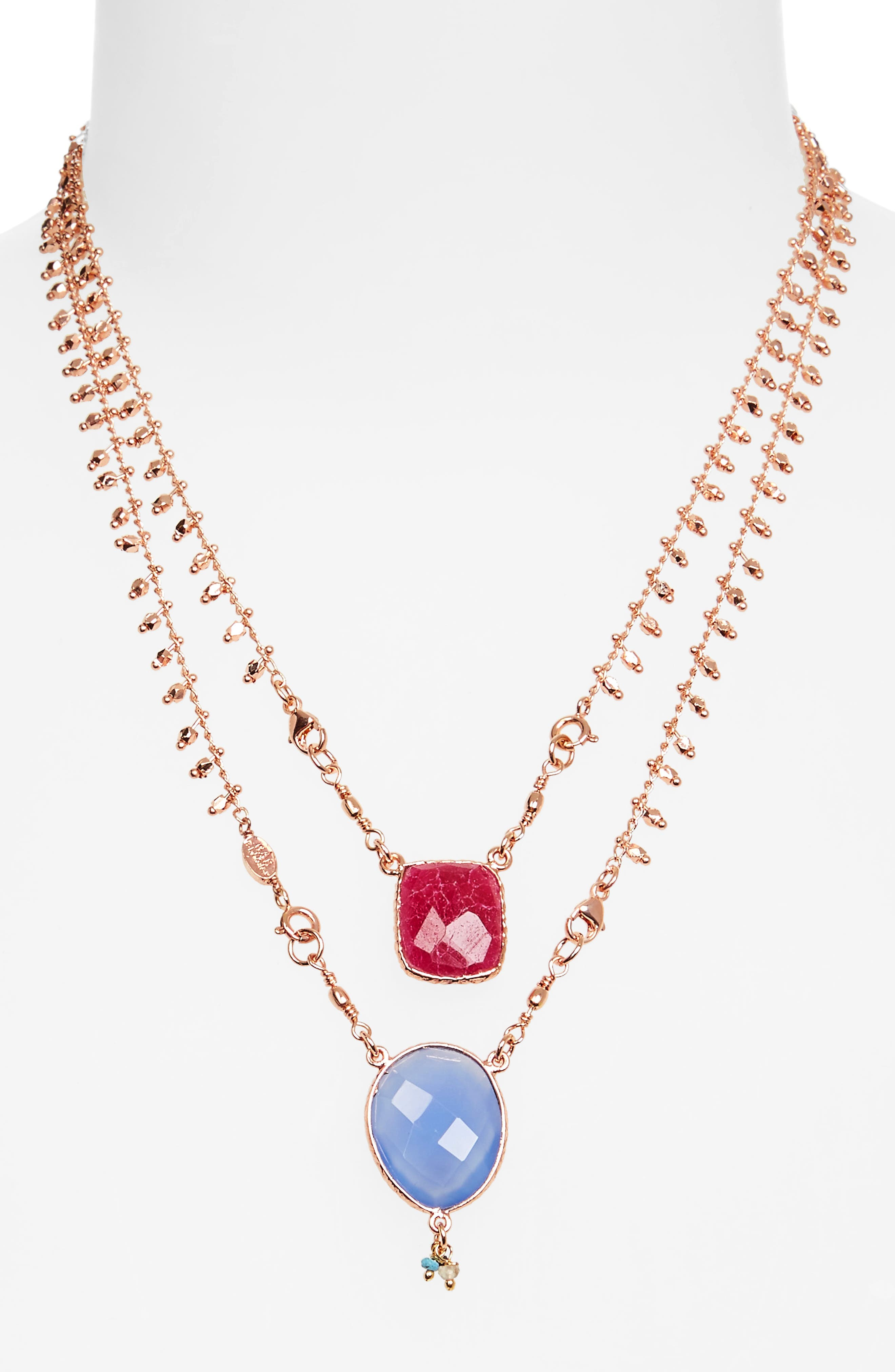 Alternate Image 2  - Gas Bijoux Scapulaire Convertible Semiprecious Stone Necklace