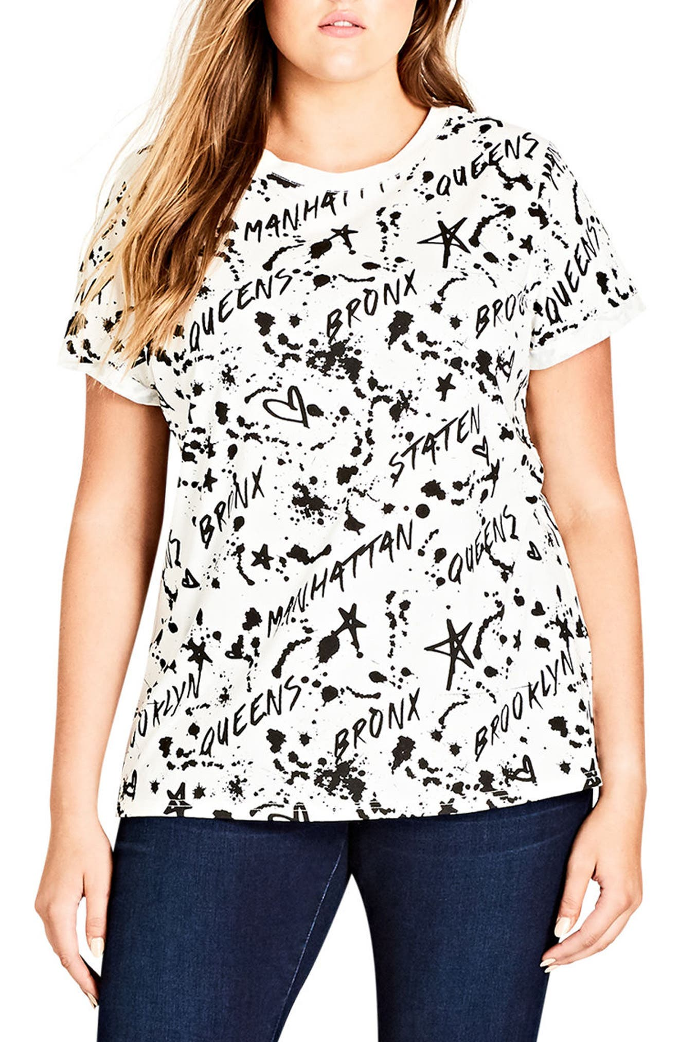Main Image - City Chic Bronx Tee (Plus Size)