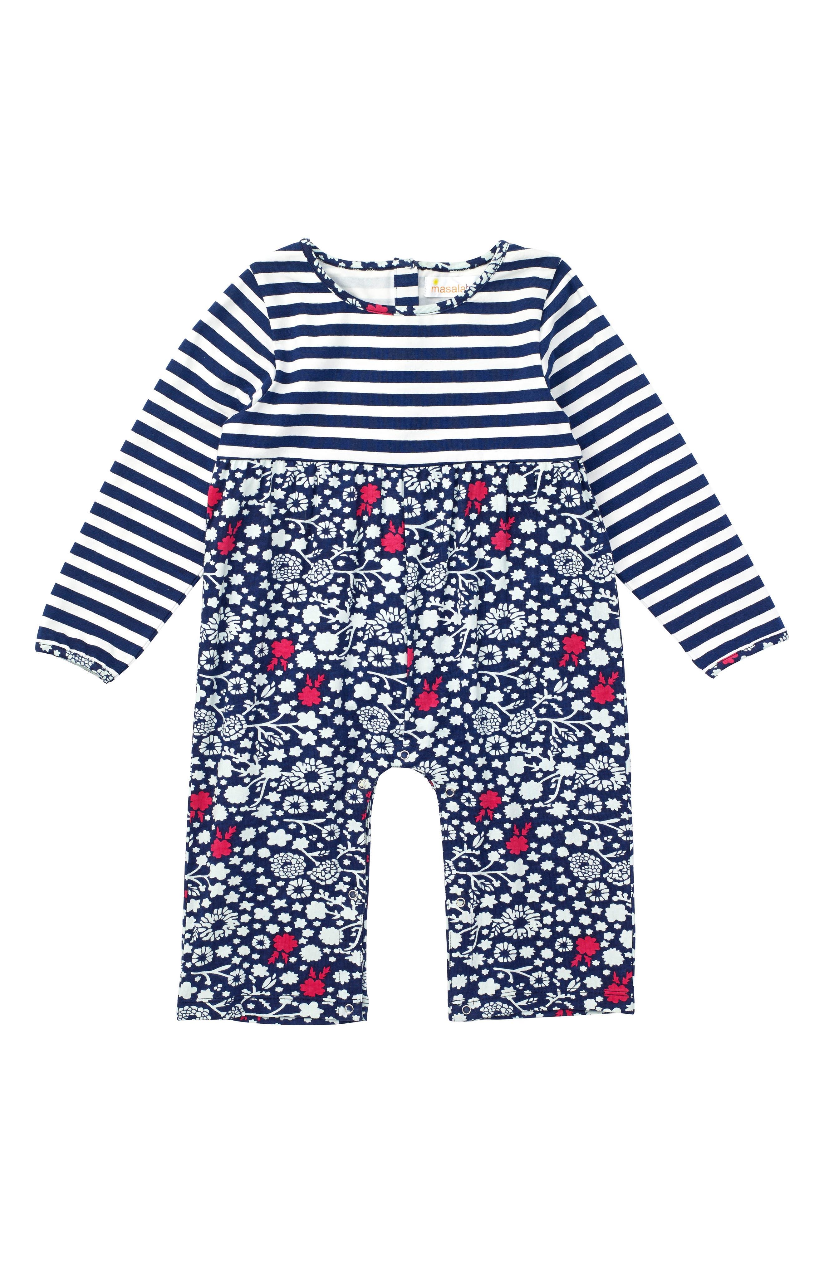 Main Image - Masalabary Chelsea Organic Cotton Romper (Baby Girls)
