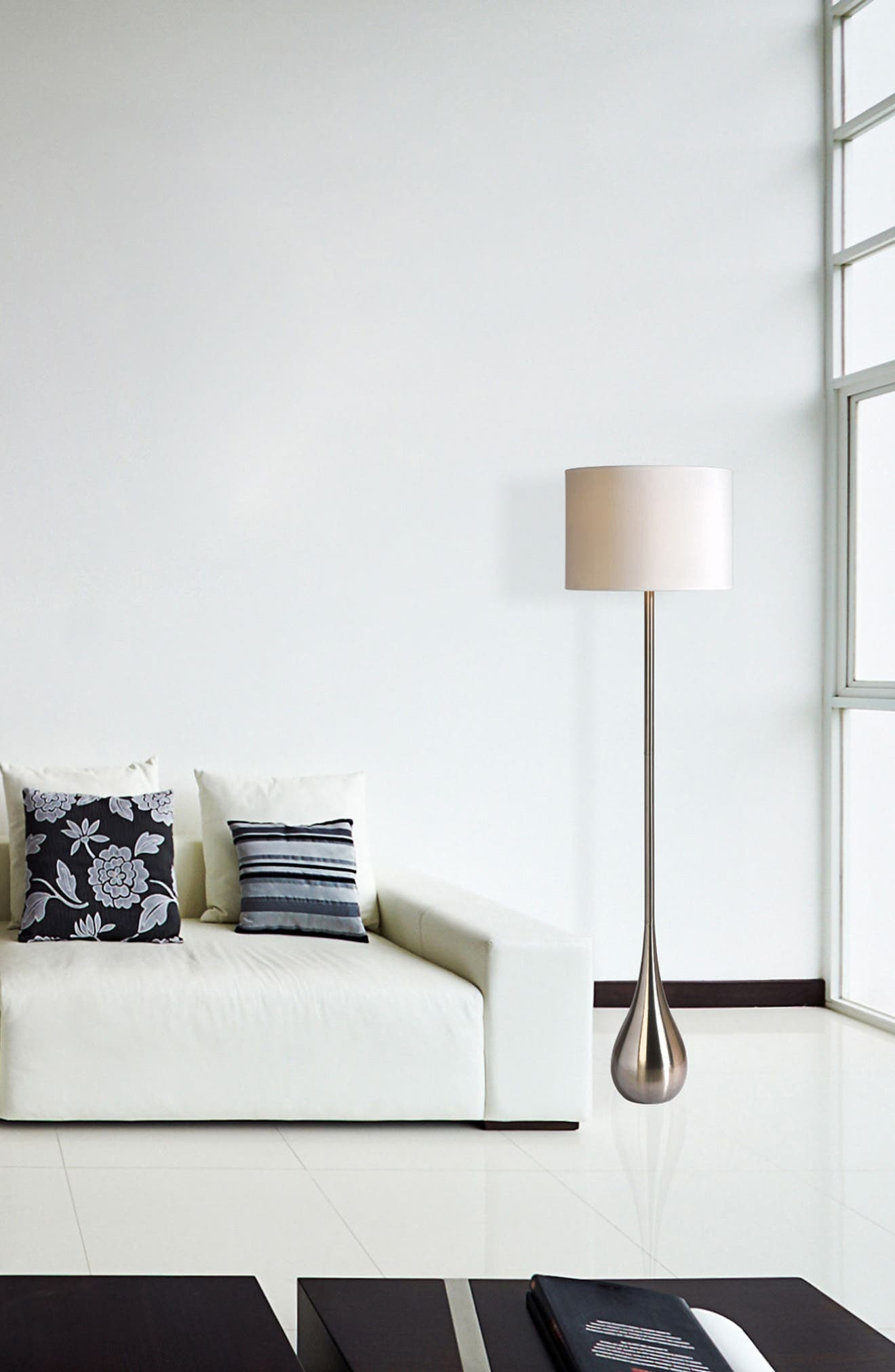 Satin Nickel Floor Lamp,                             Alternate thumbnail 2, color,                             Satin Nickel