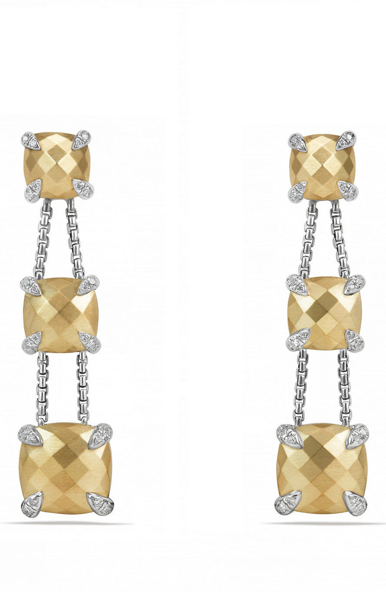 DAVID YURMAN Châtelaine Drop Earrings with Diamonds & 18K Gold