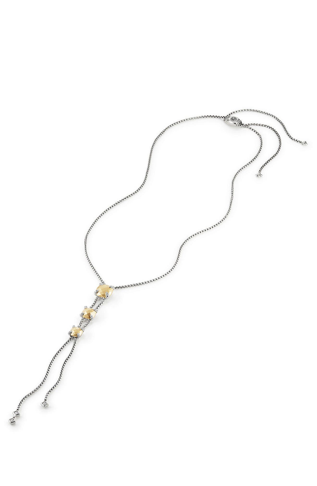 Alternate Image 1 Selected - David Yurman Châtelaine Y-Necklace with Diamonds