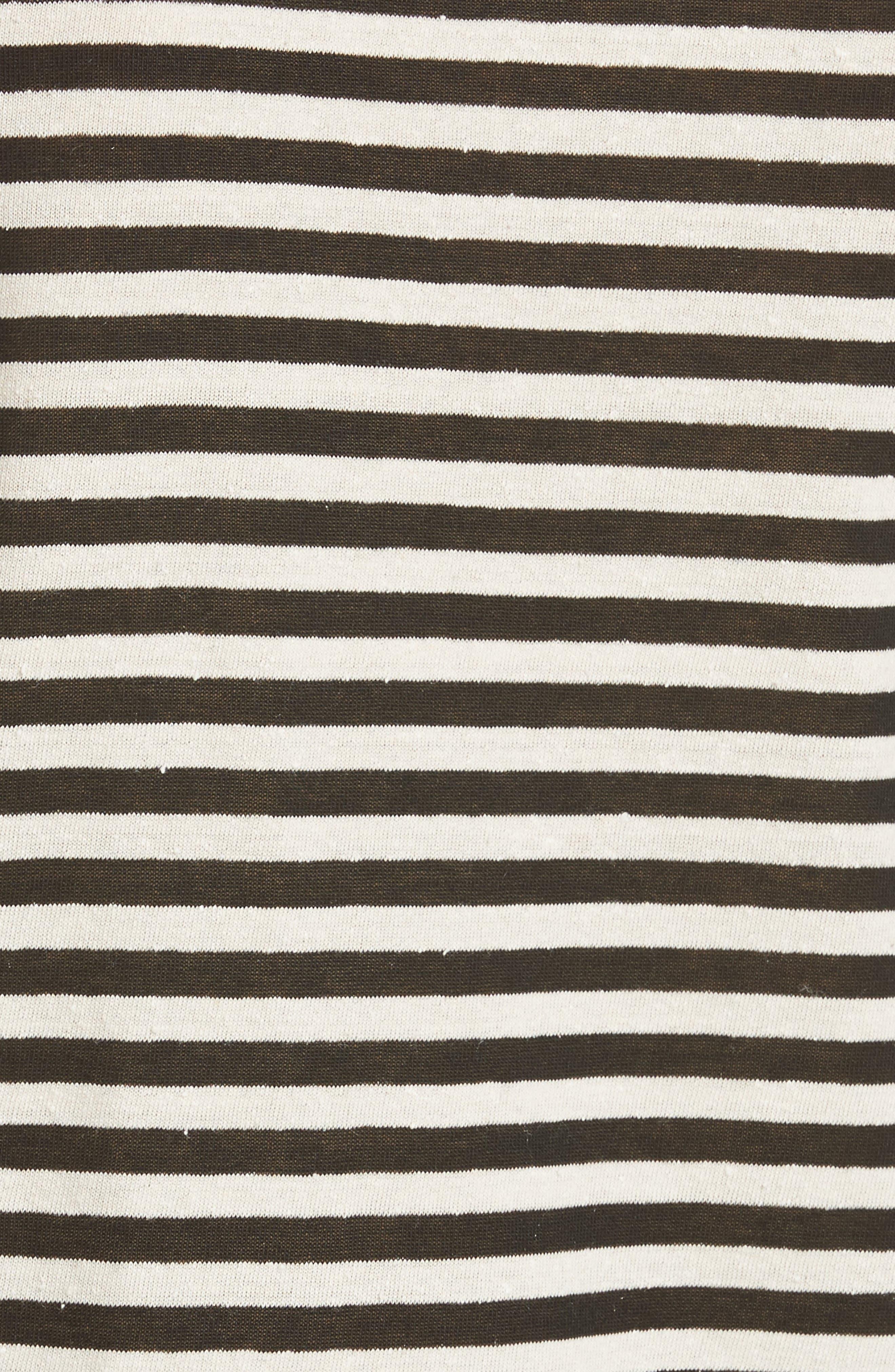 Alternate Image 5  - Vince Midi Stripe Crop Tee