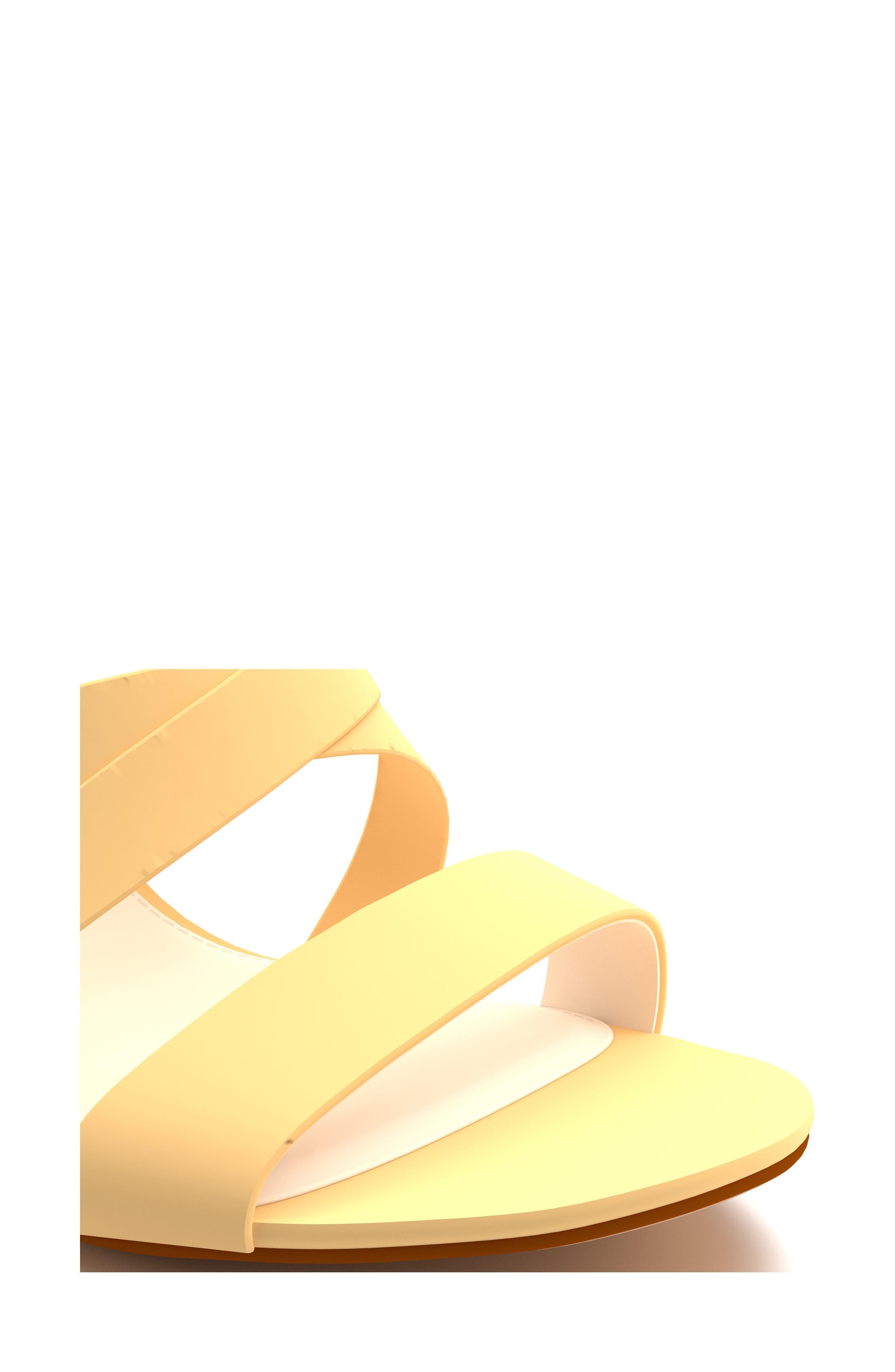 Cross Strap Sandal,                             Alternate thumbnail 3, color,                             Butter Suede