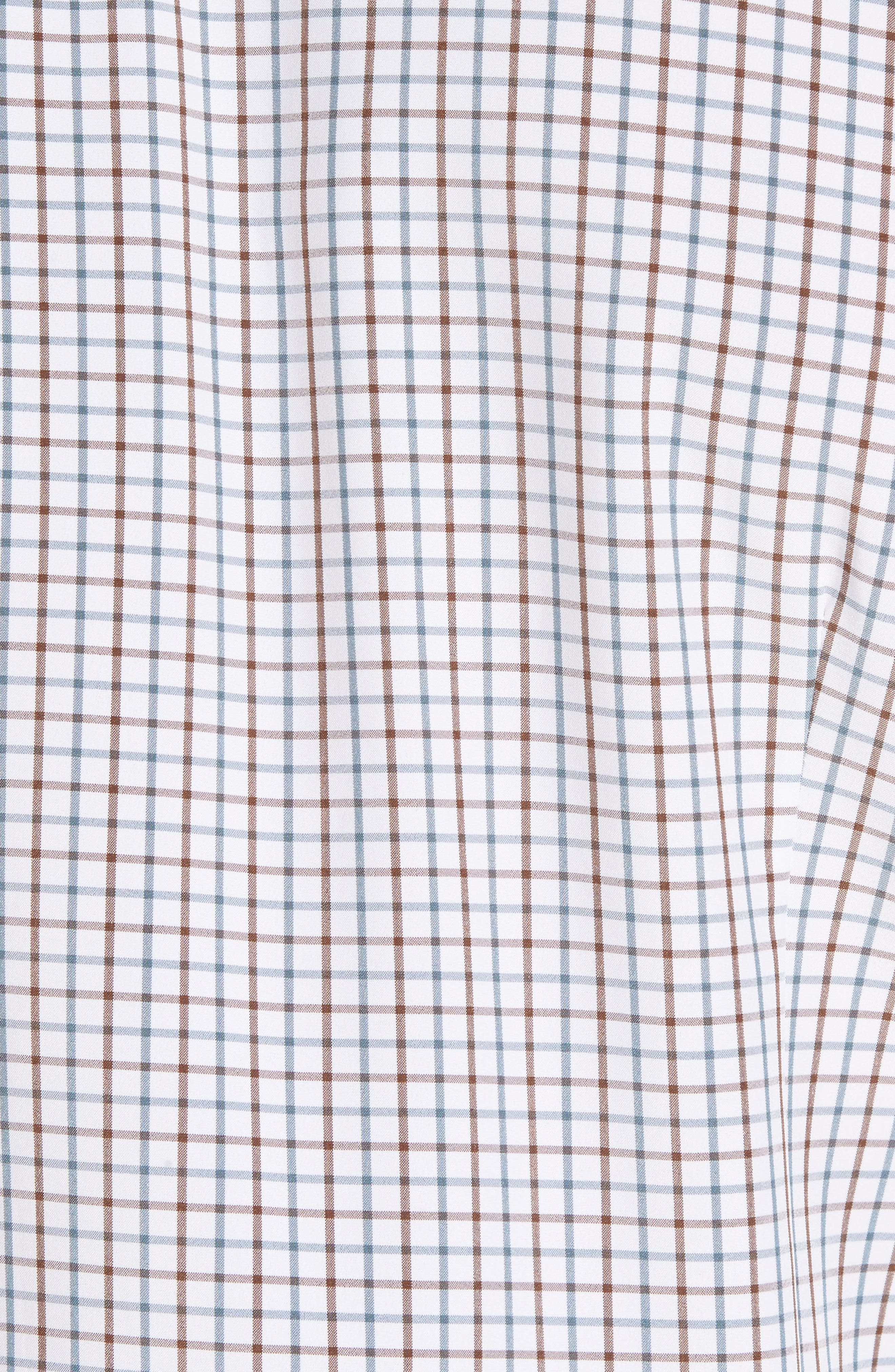 Nolan Slim Fit Tattersall Performance Sport Shirt,                             Alternate thumbnail 5, color,                             White