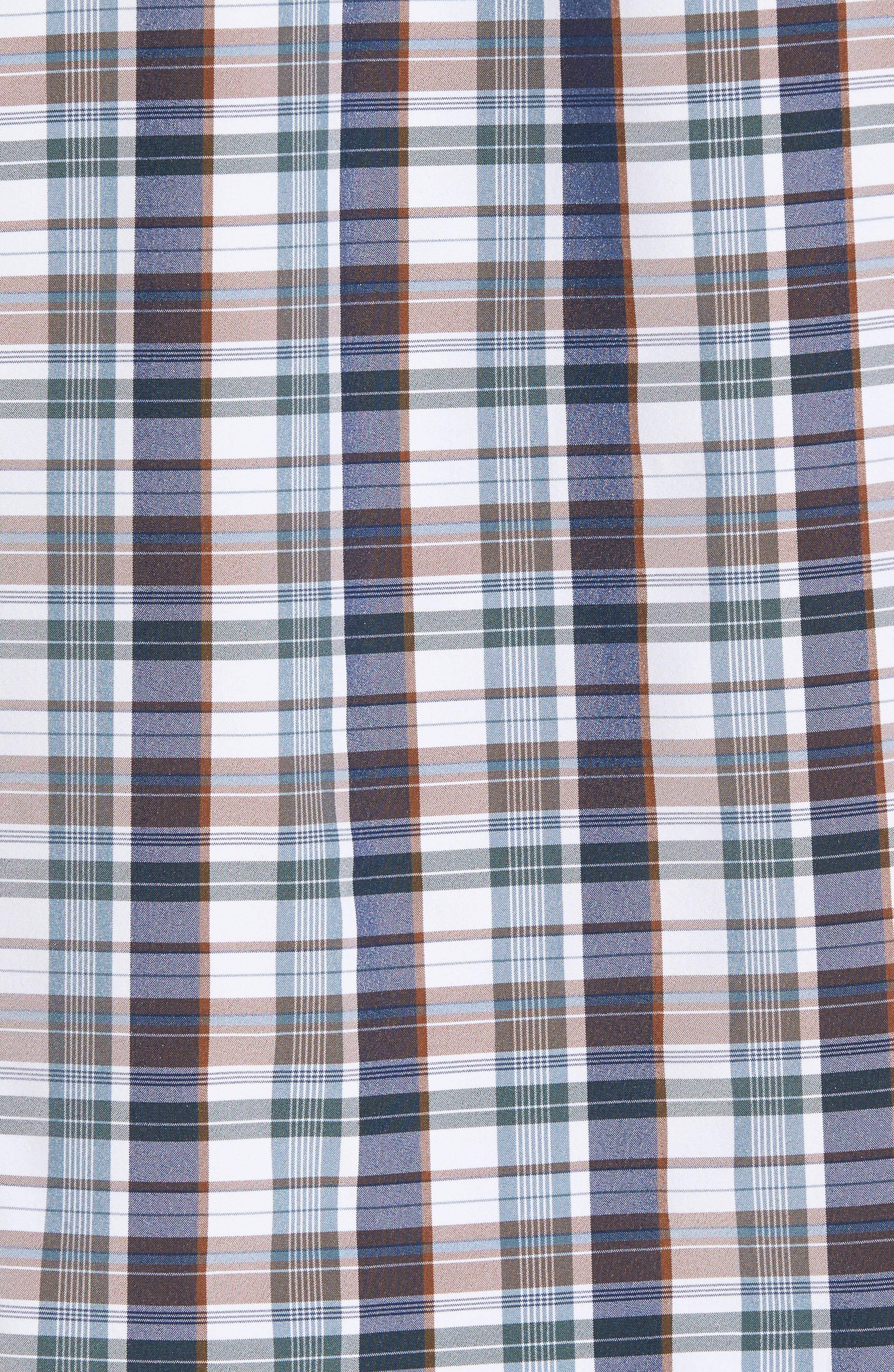Alternate Image 5  - Mizzen+Main Russell Madras Plaid Performance Sport Shirt (Regular & Tall)