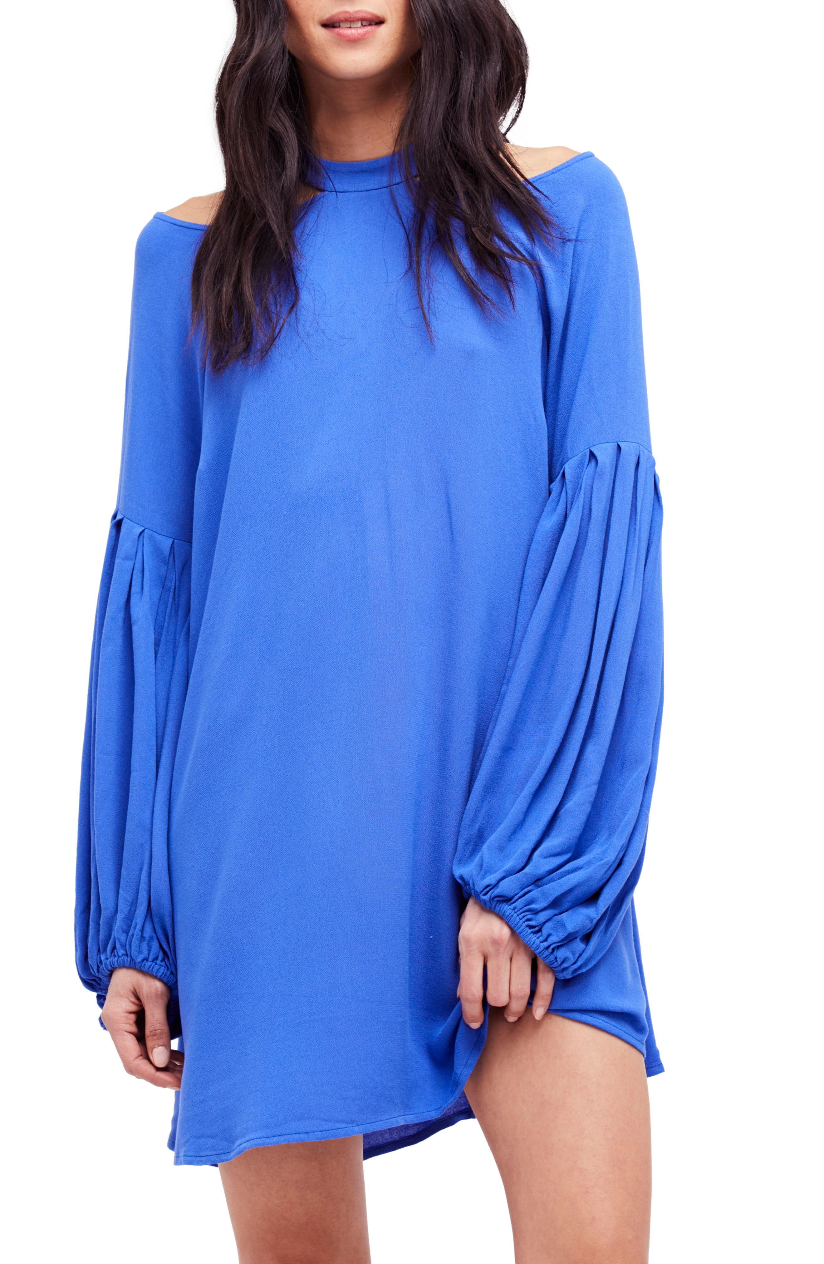 Drift Away Cold Shoulder Tunic,                             Main thumbnail 1, color,                             Blue