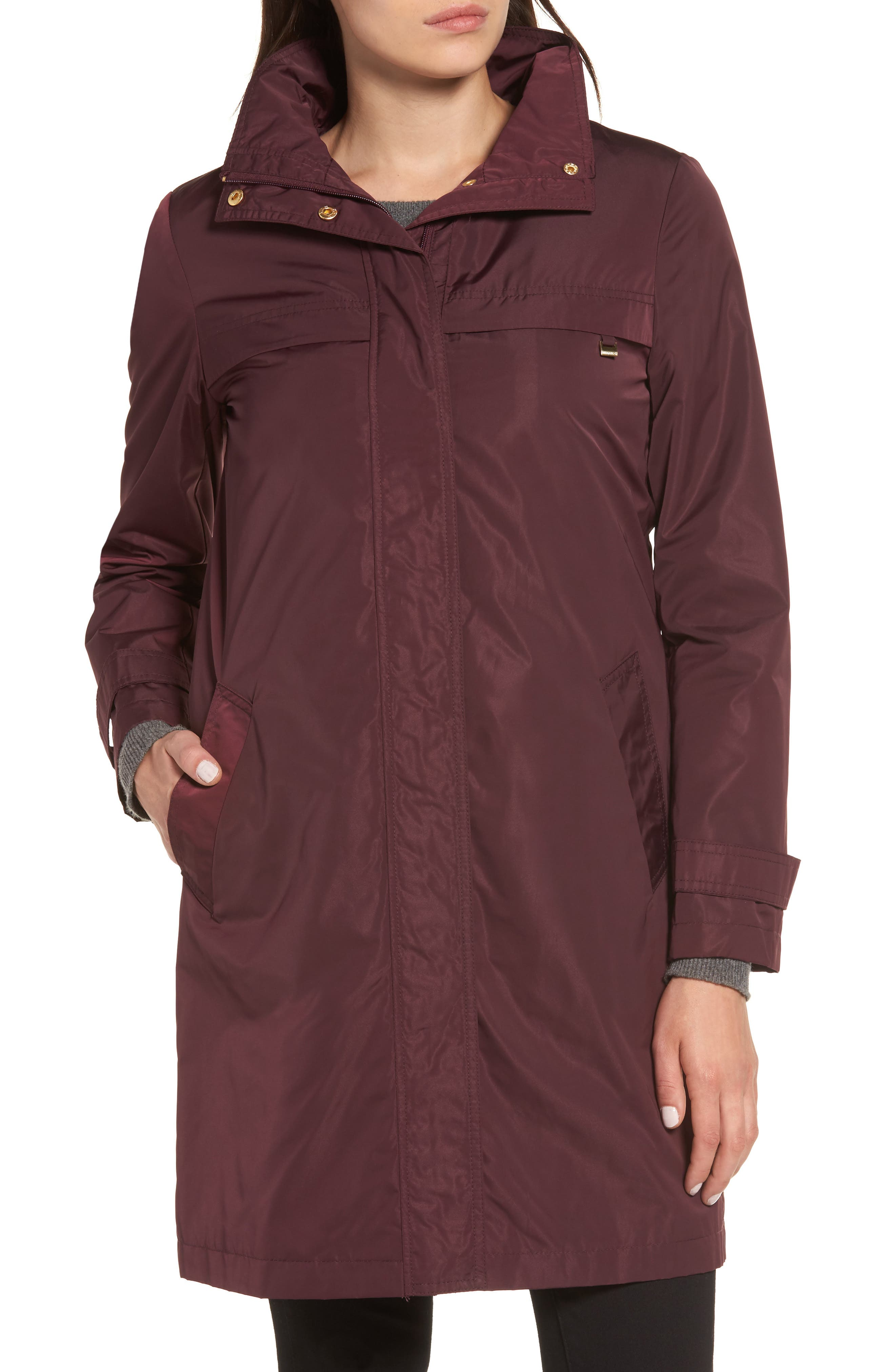 Alternate Image 4  - Ellen Tracy Raincoat with Detachable Hood