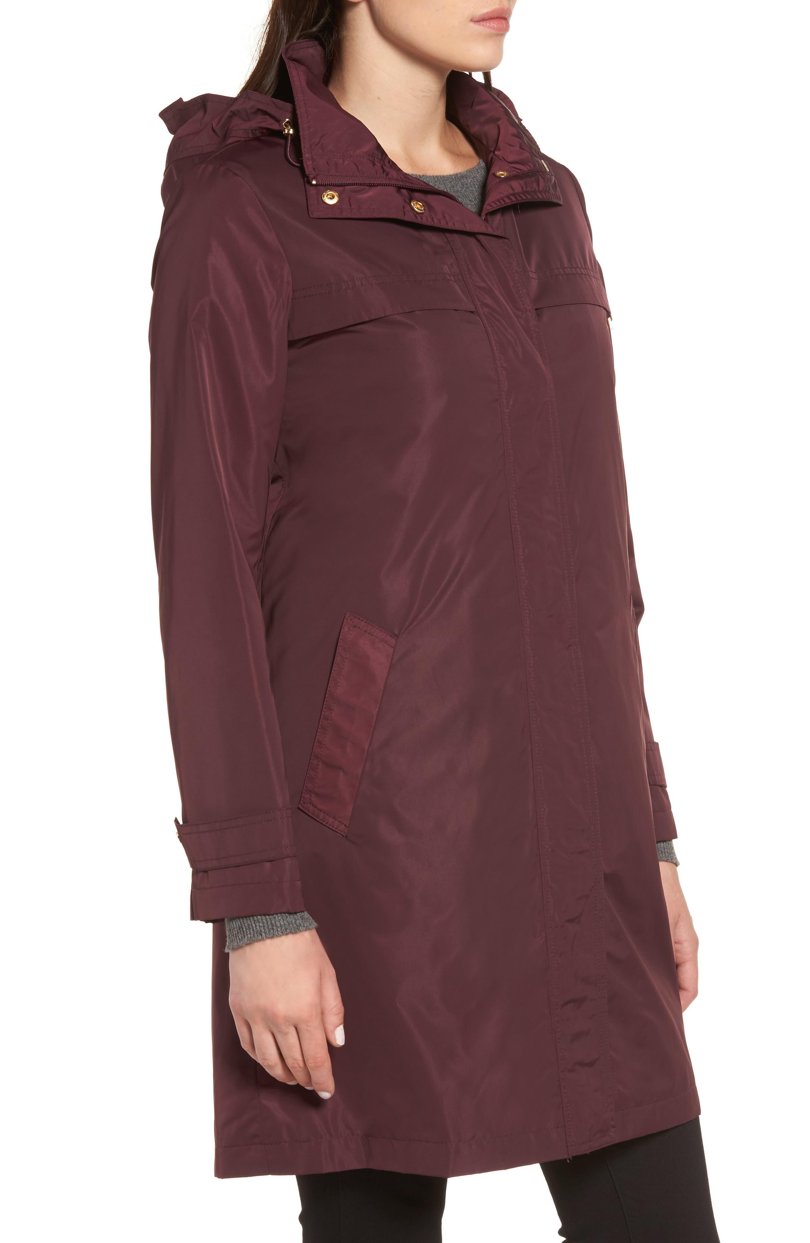 Alternate Image 3  - Ellen Tracy Raincoat with Detachable Hood