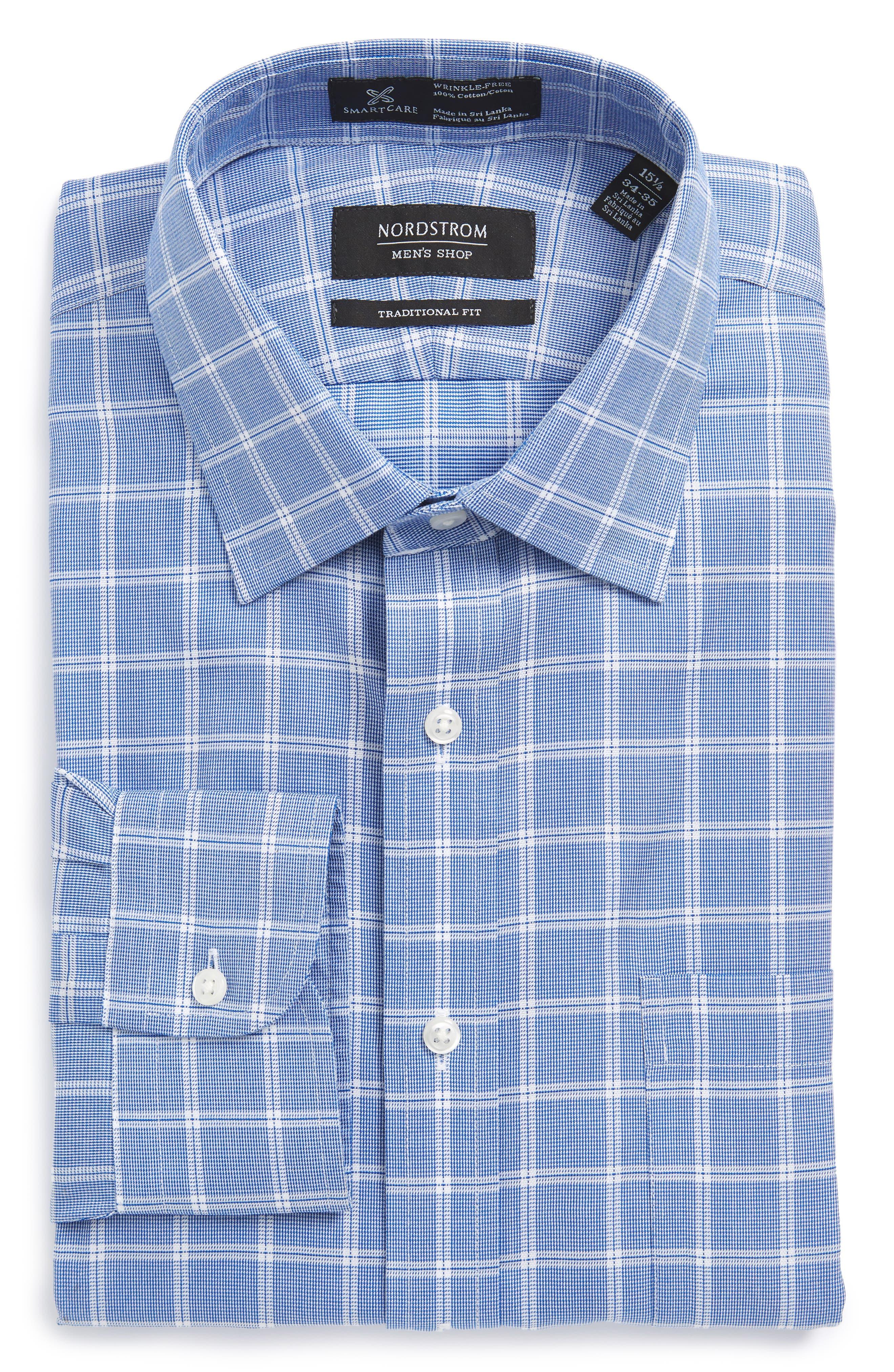 Nordsrom Men's Shop Smartcare™ Traditional Fit Check Dress Shirt