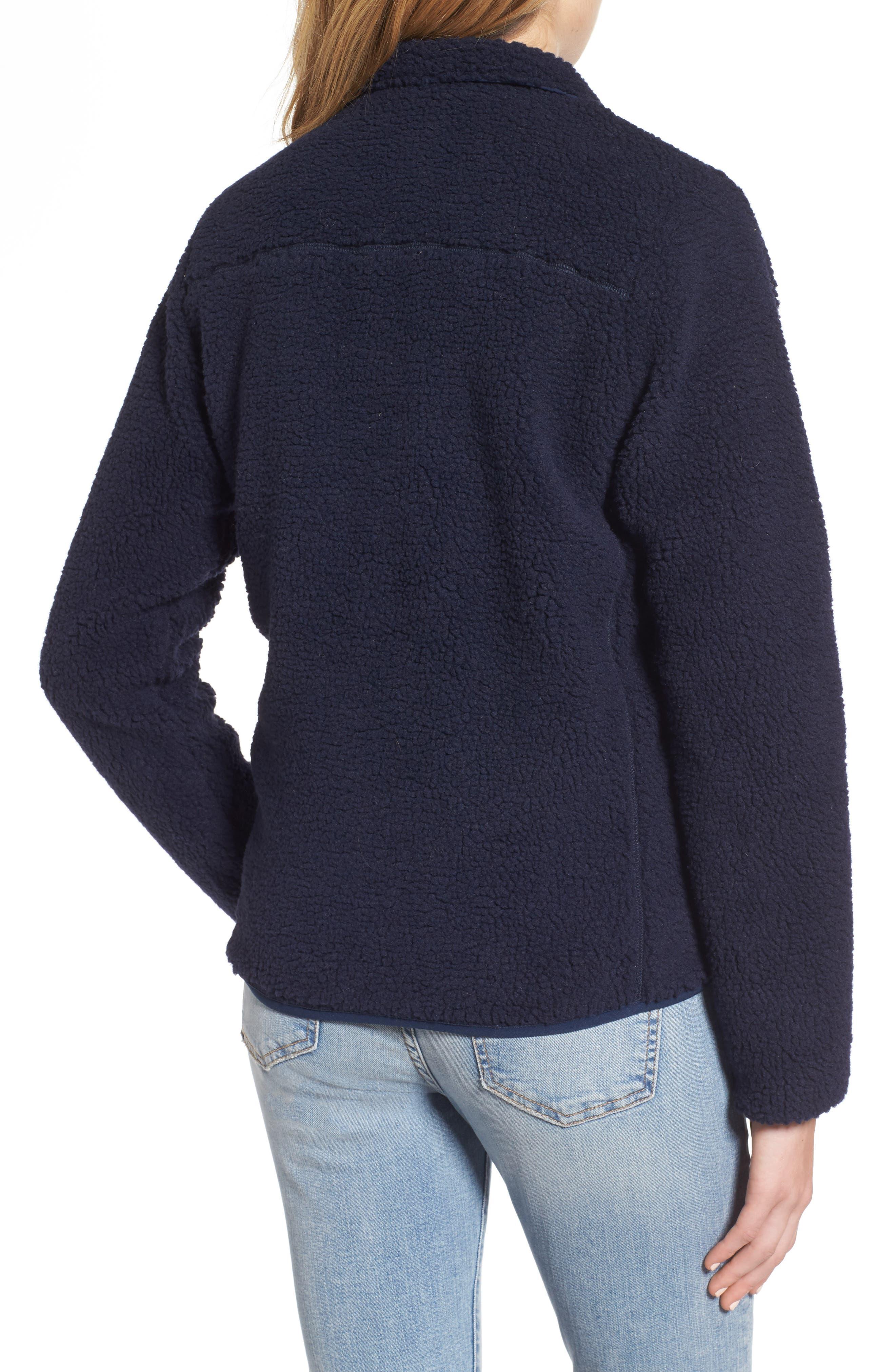 Mattawa Fleece Jacket,                             Alternate thumbnail 2, color,                             Navy
