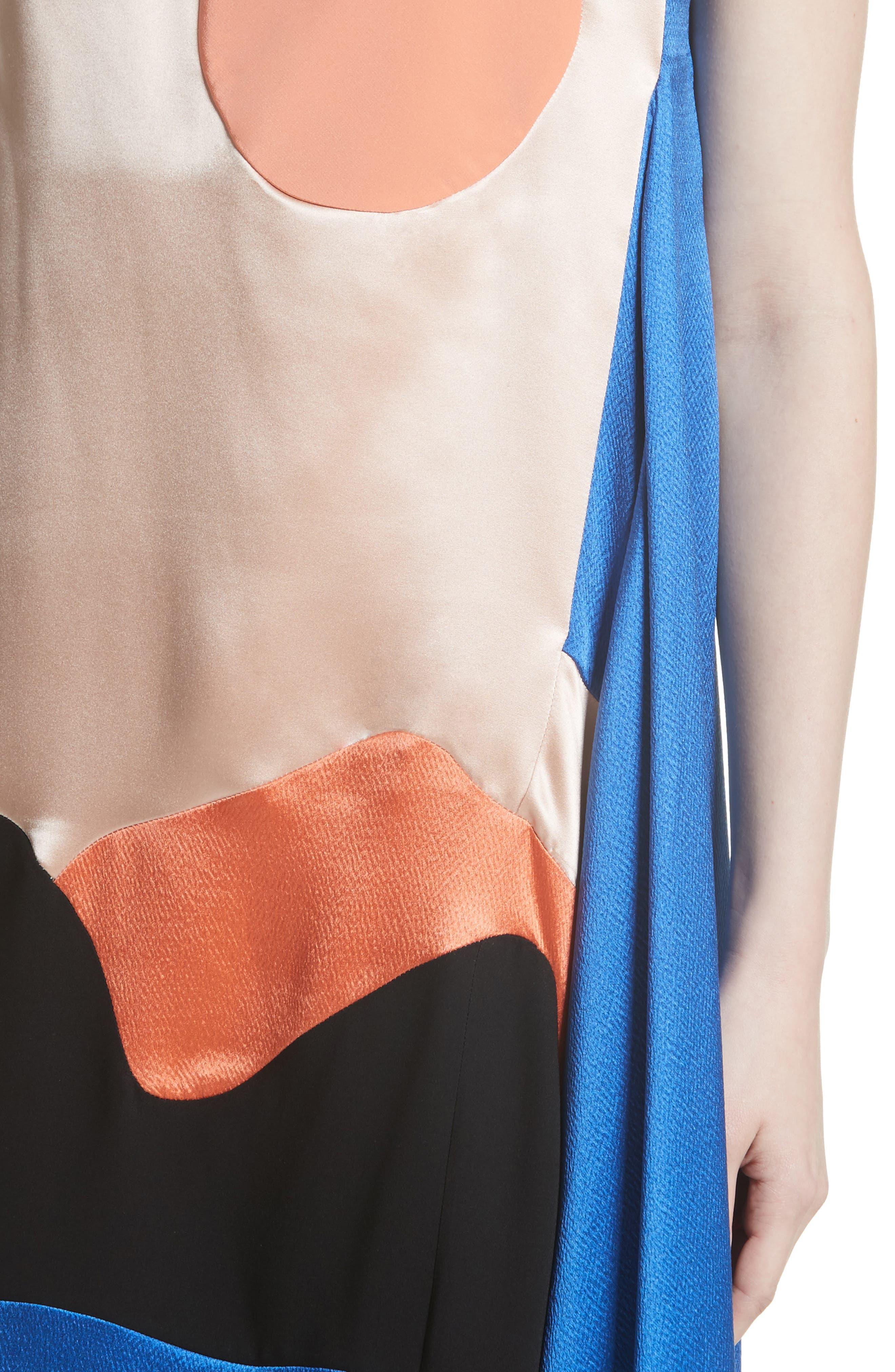 Alternate Image 4  - Roksanda Nakato Hammered Silk, Satin and Crêpe de Chine Midi Dress