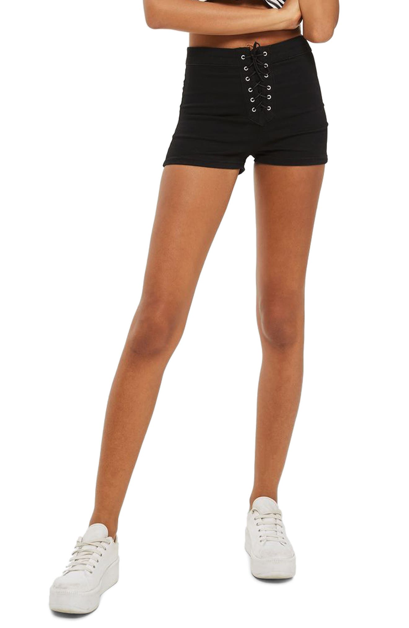 TOPSHOP Joni Lace-Up Shorts