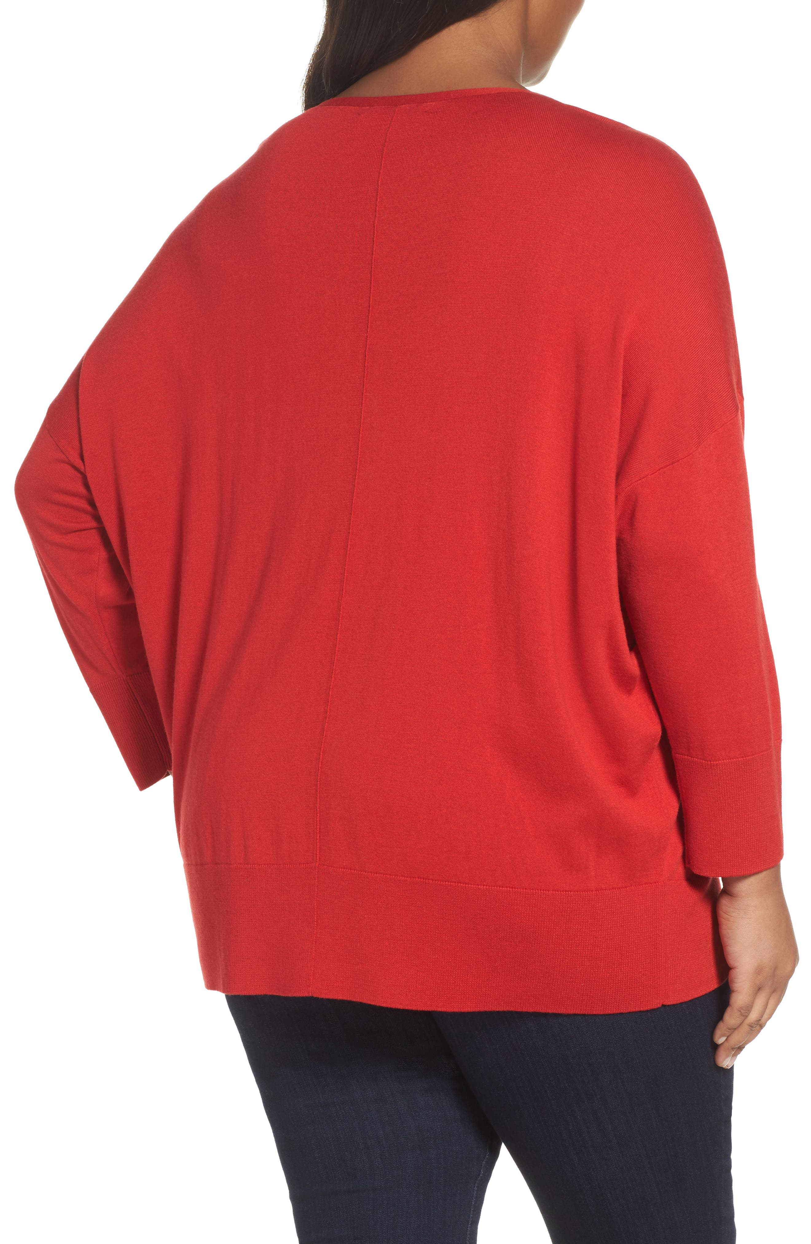 Dolman Sleeve Sweater,                             Alternate thumbnail 2, color,                             Red Samba