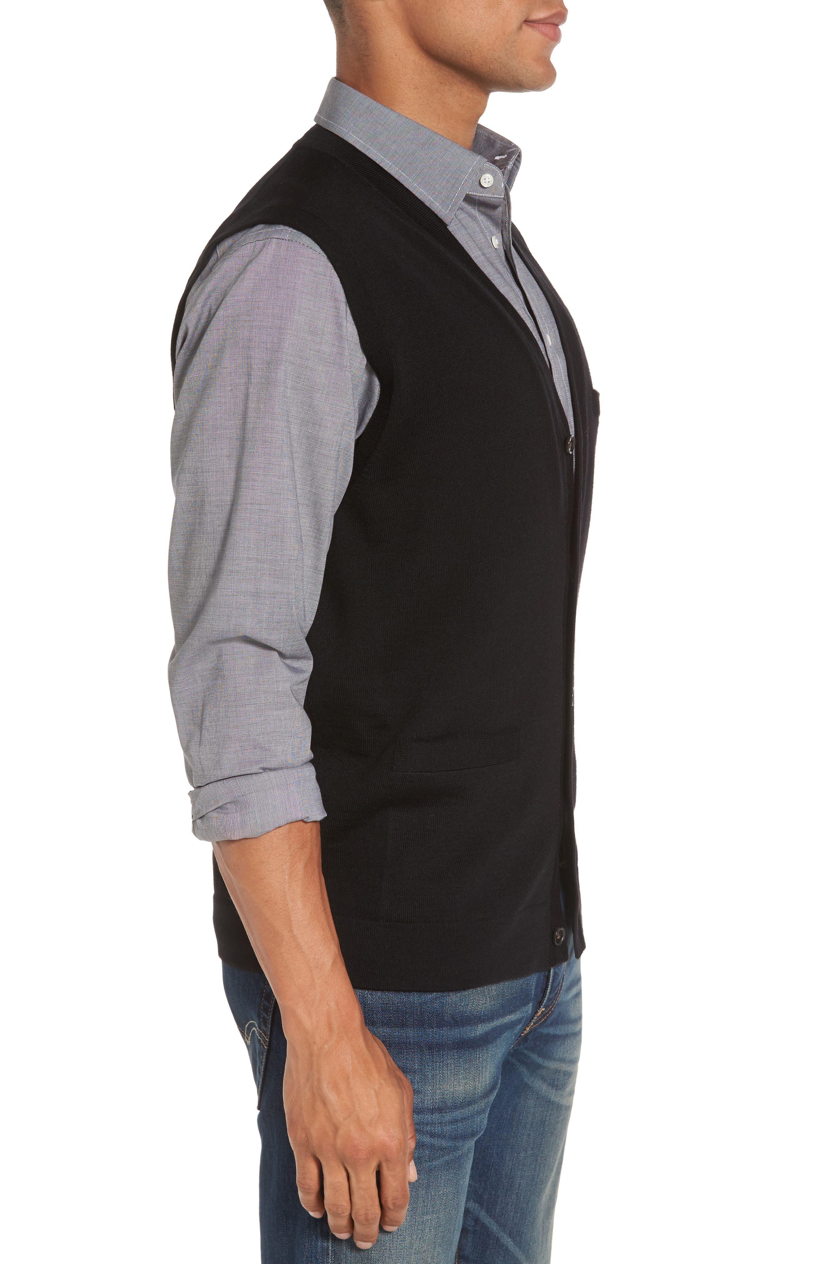 Alternate Image 3  - Nordstrom Men's Shop Merino Button Front Sweater Vest