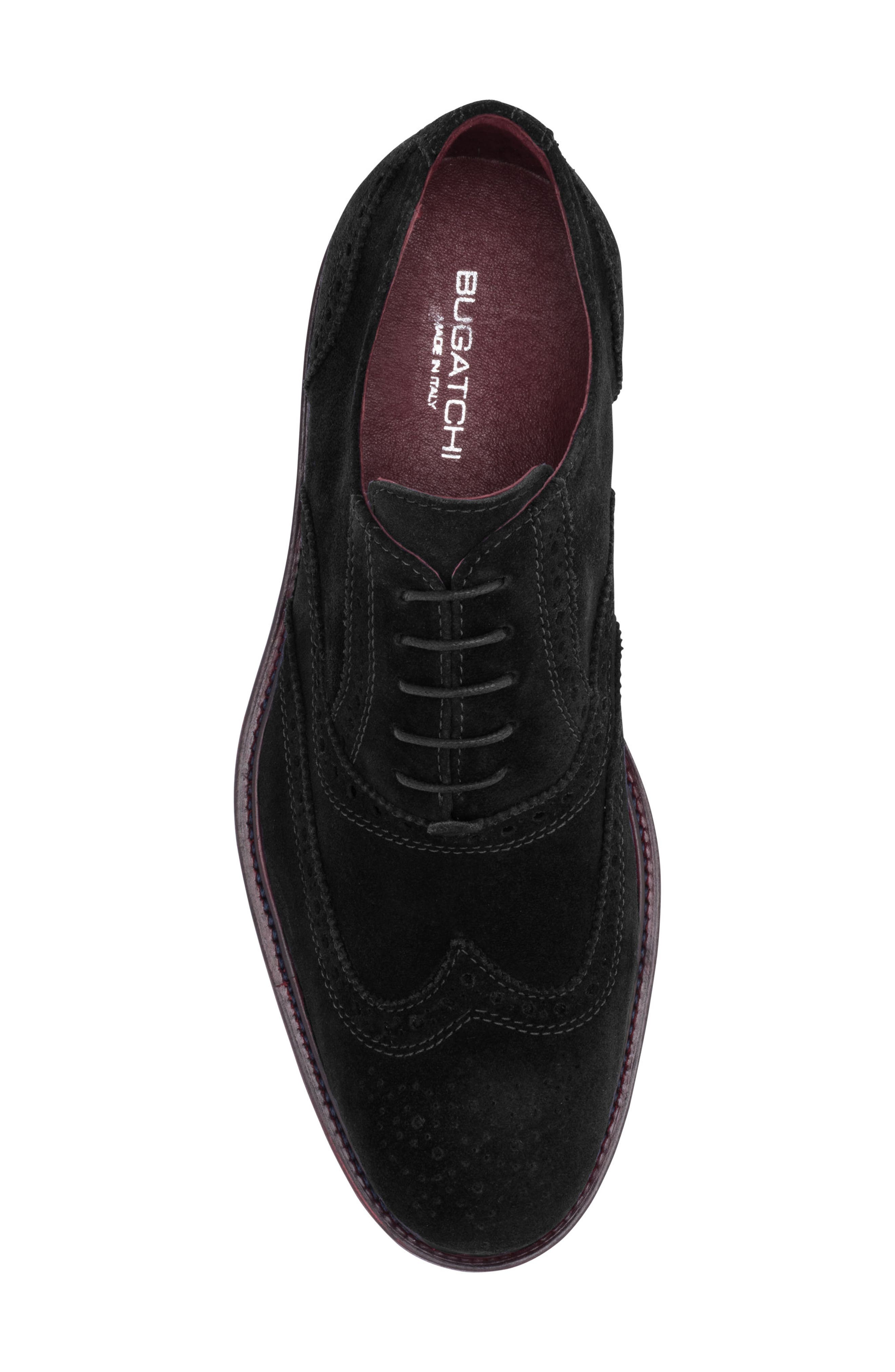 Siena Wingtip,                             Alternate thumbnail 5, color,                             Nero Suede