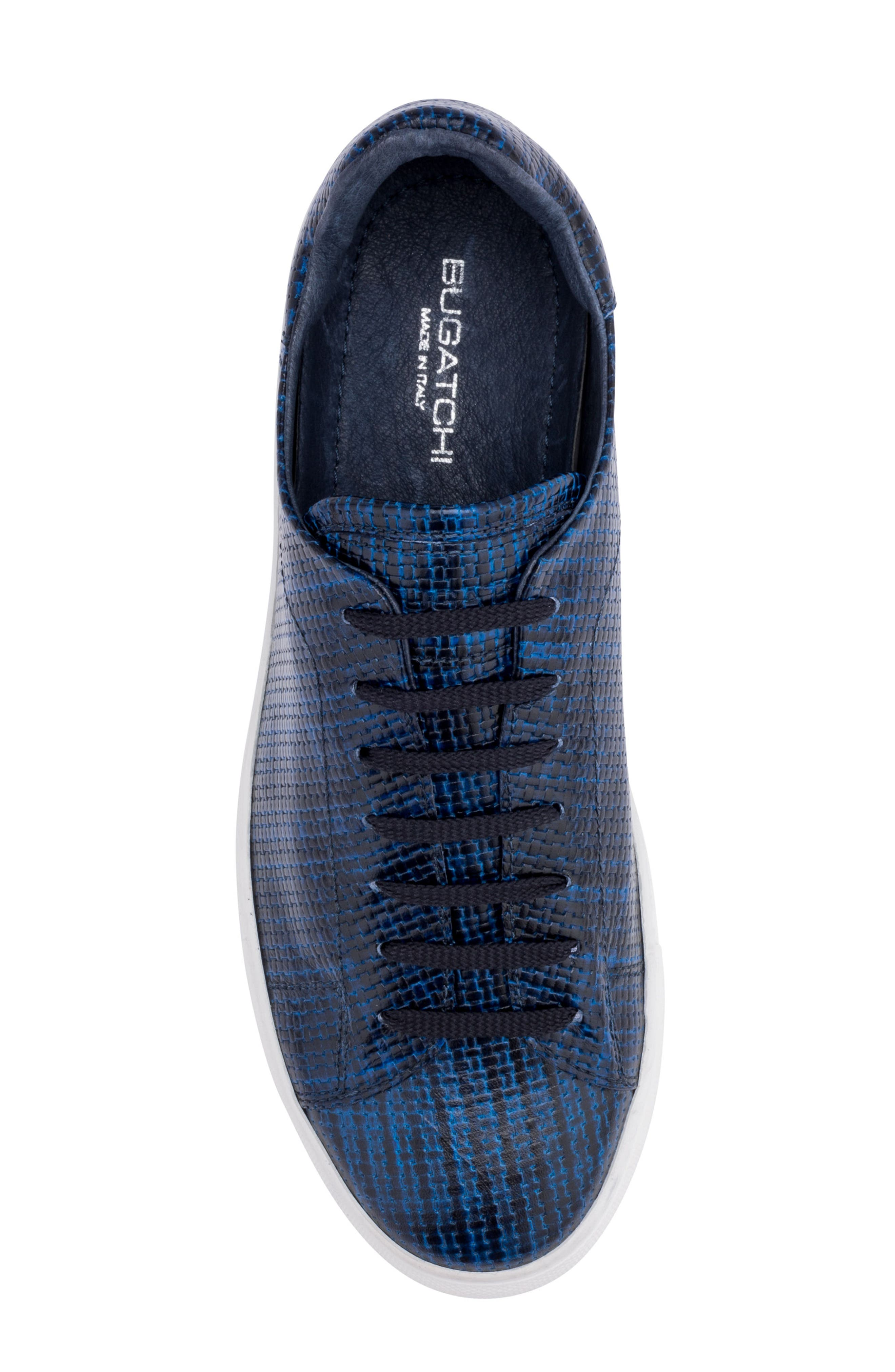 Wimbledon Sneaker,                             Alternate thumbnail 5, color,                             Navy Leather