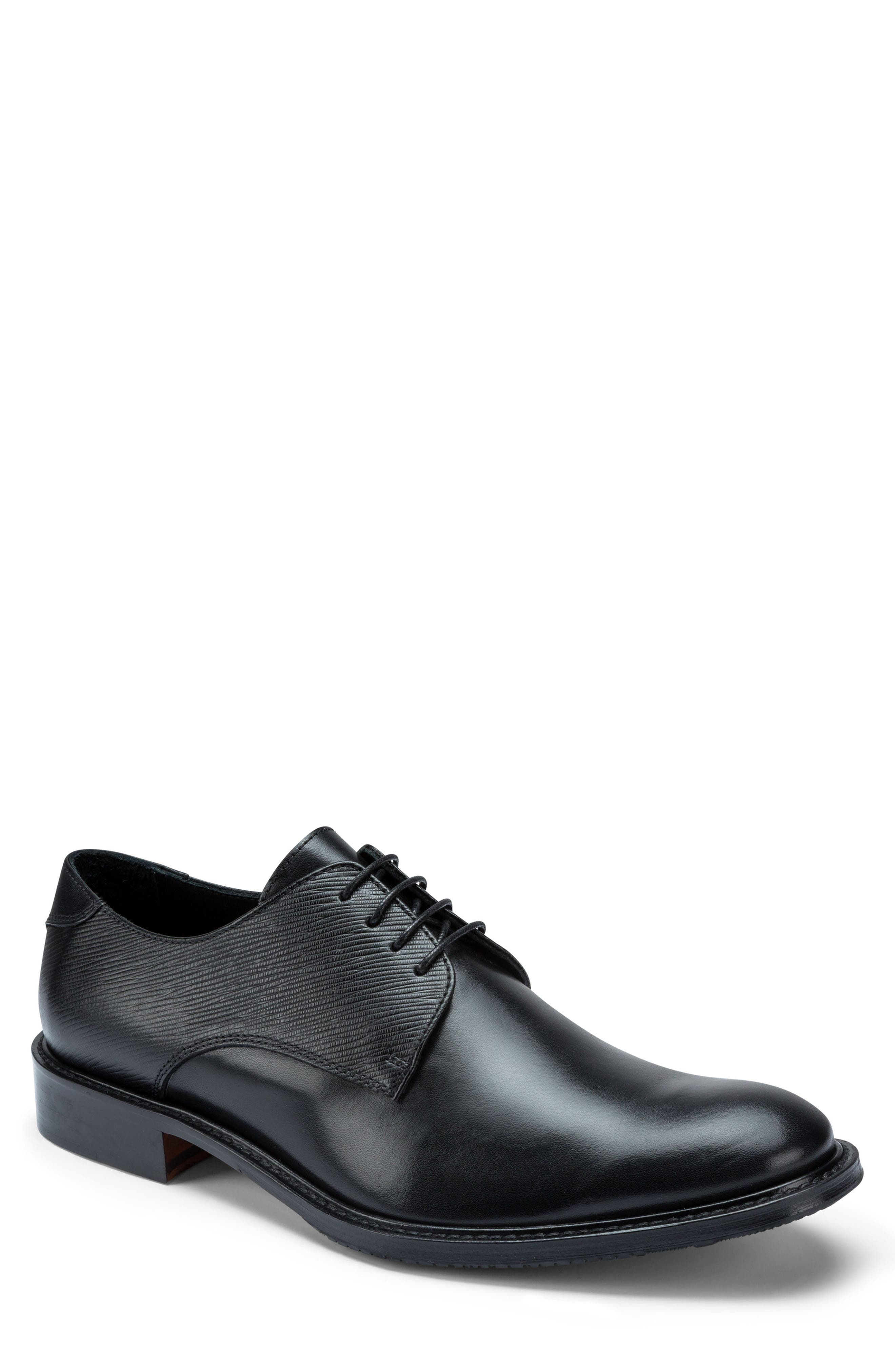 Sorrento Plain Toe Derby,                         Main,                         color, Nero Leather