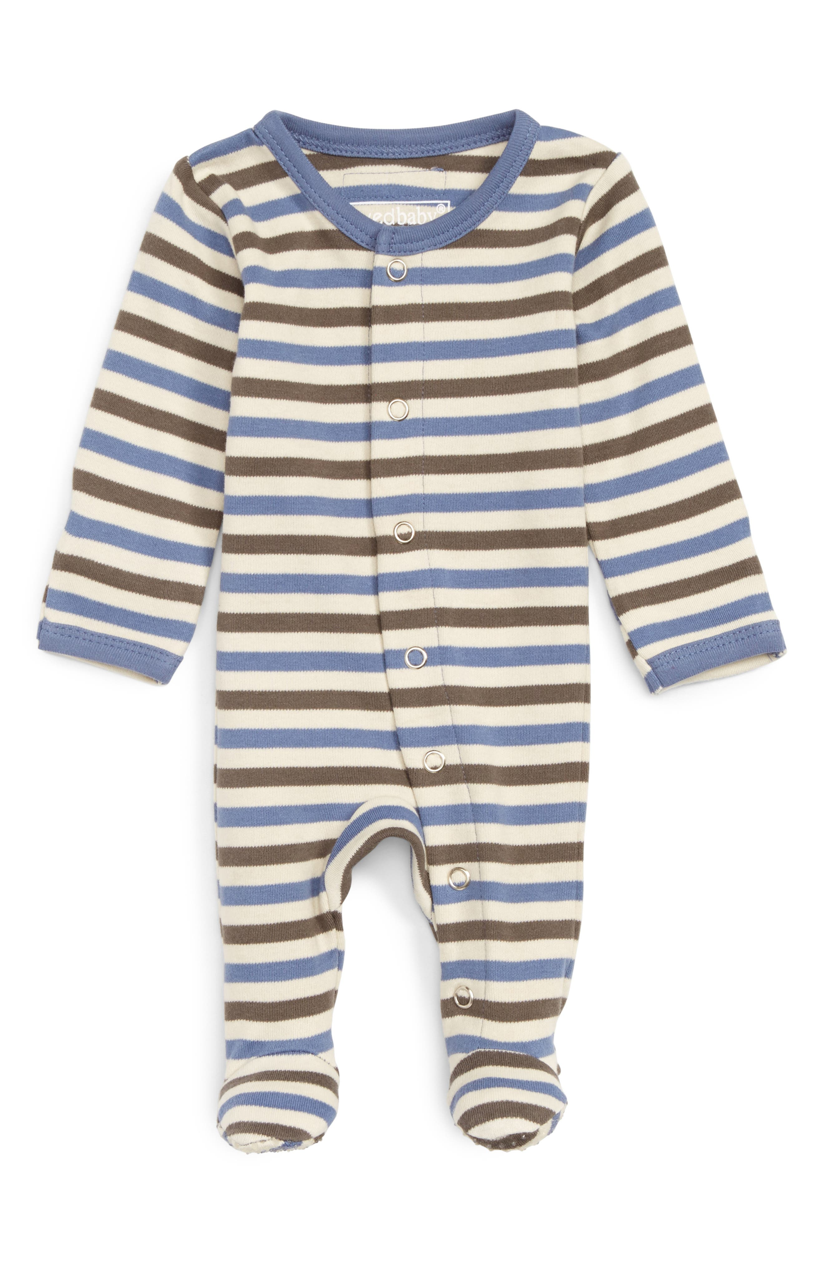 Alternate Image 1 Selected - L'ovedbaby Organic Cotton Footie (Baby)