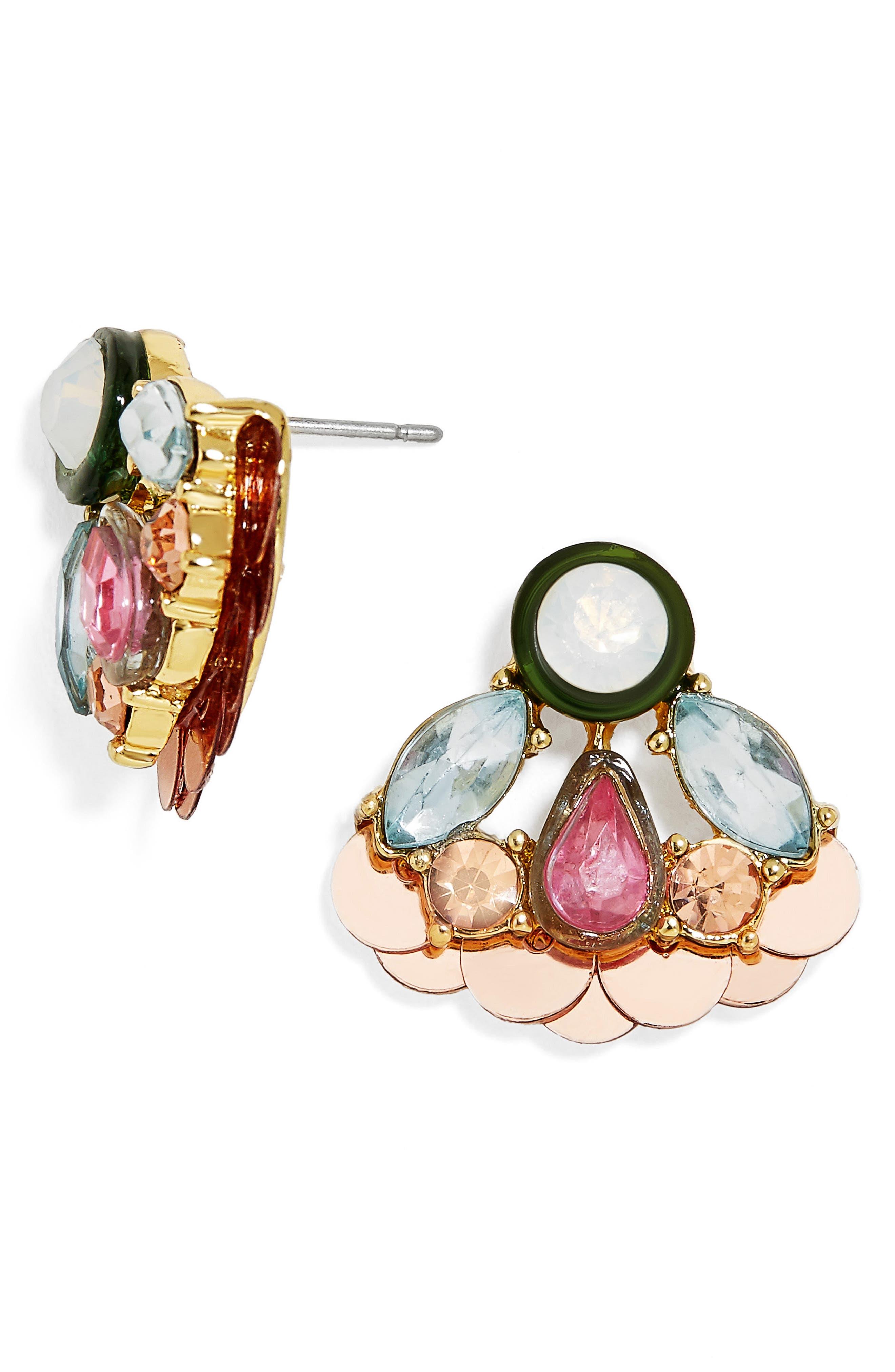 Angeli Stud Earrings,                             Main thumbnail 1, color,                             Multi/ Pink