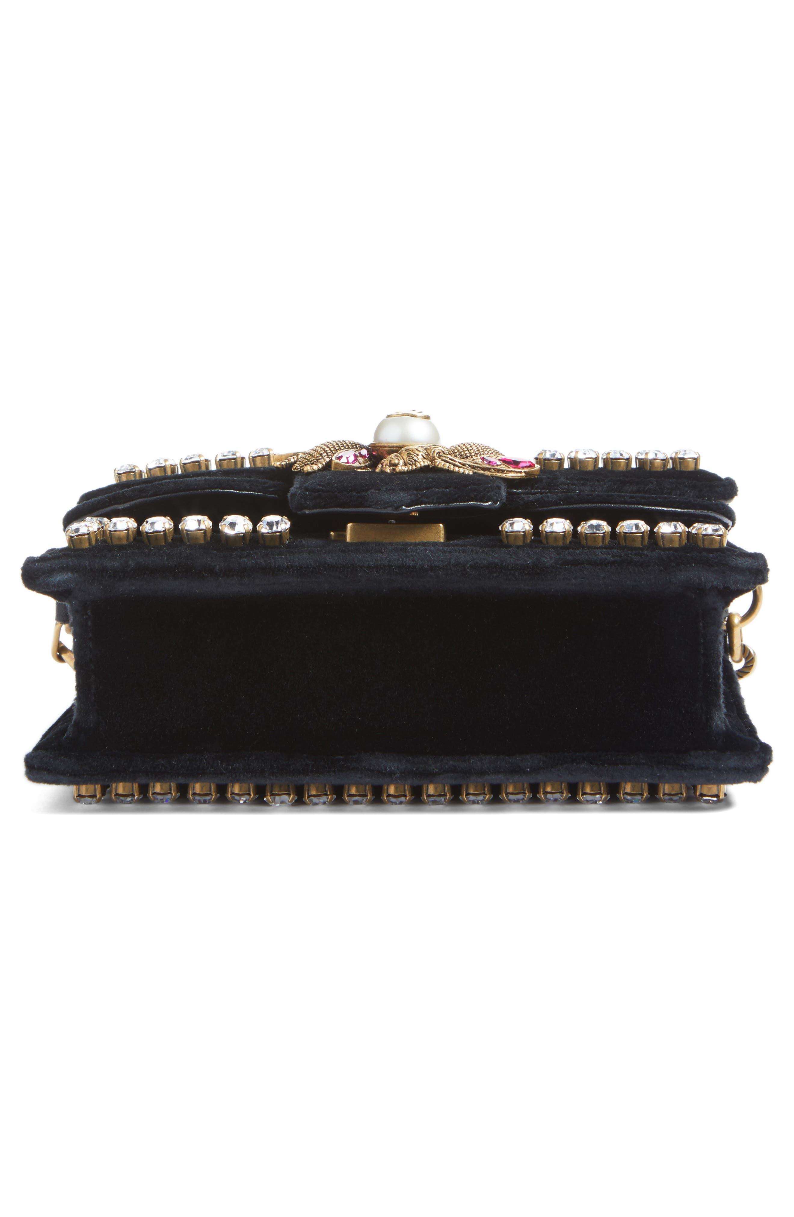 Alternate Image 5  - Gucci Broadway Bee Velvet Shoulder Bag