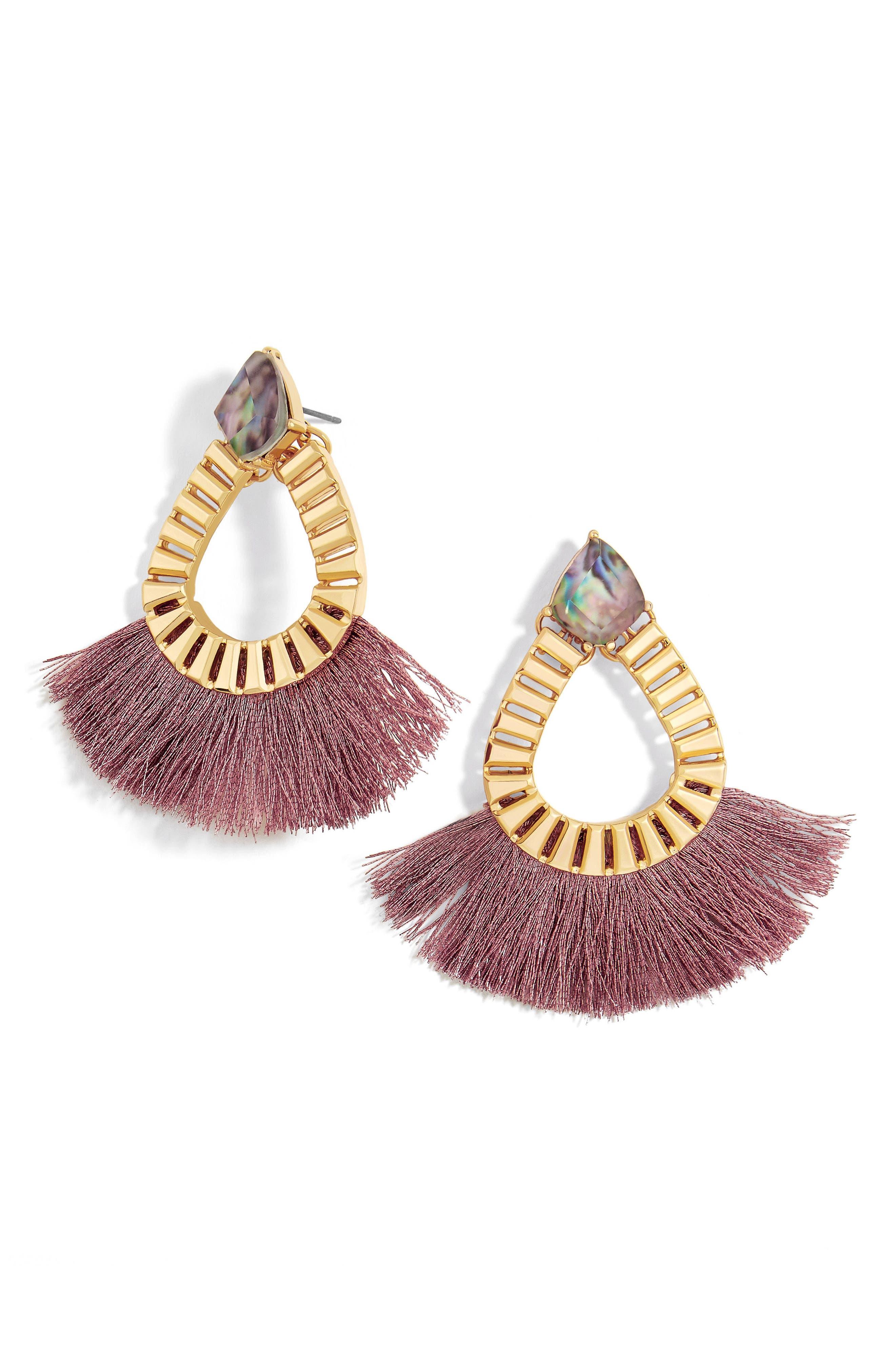 BaubleBar Ashira Fringe Earrings