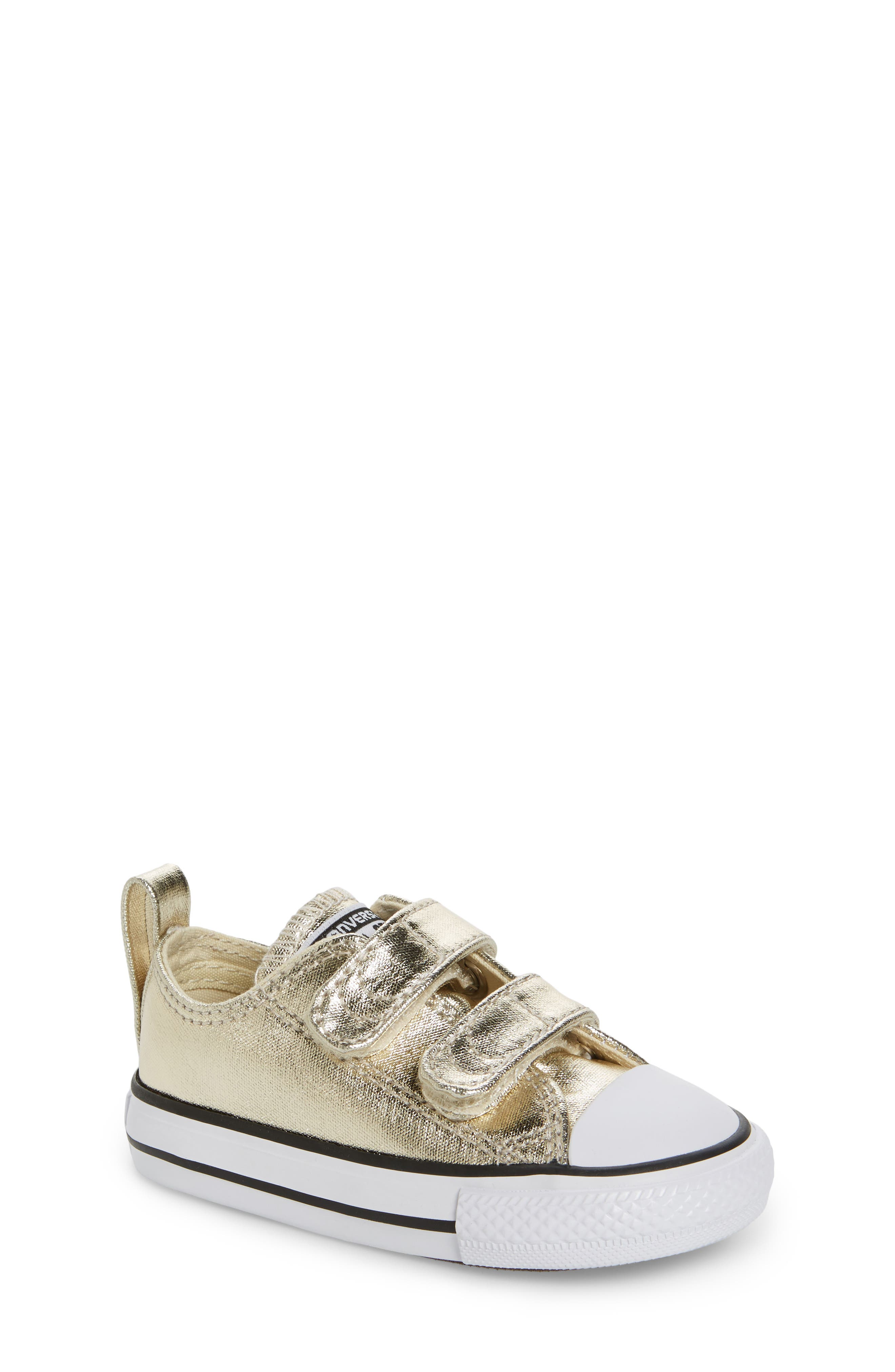 Alternate Image 1 Selected - Converse Chuck Taylor® All Star® 2V Metallic Low-Top Sneaker (Baby, Walker & Toddler)