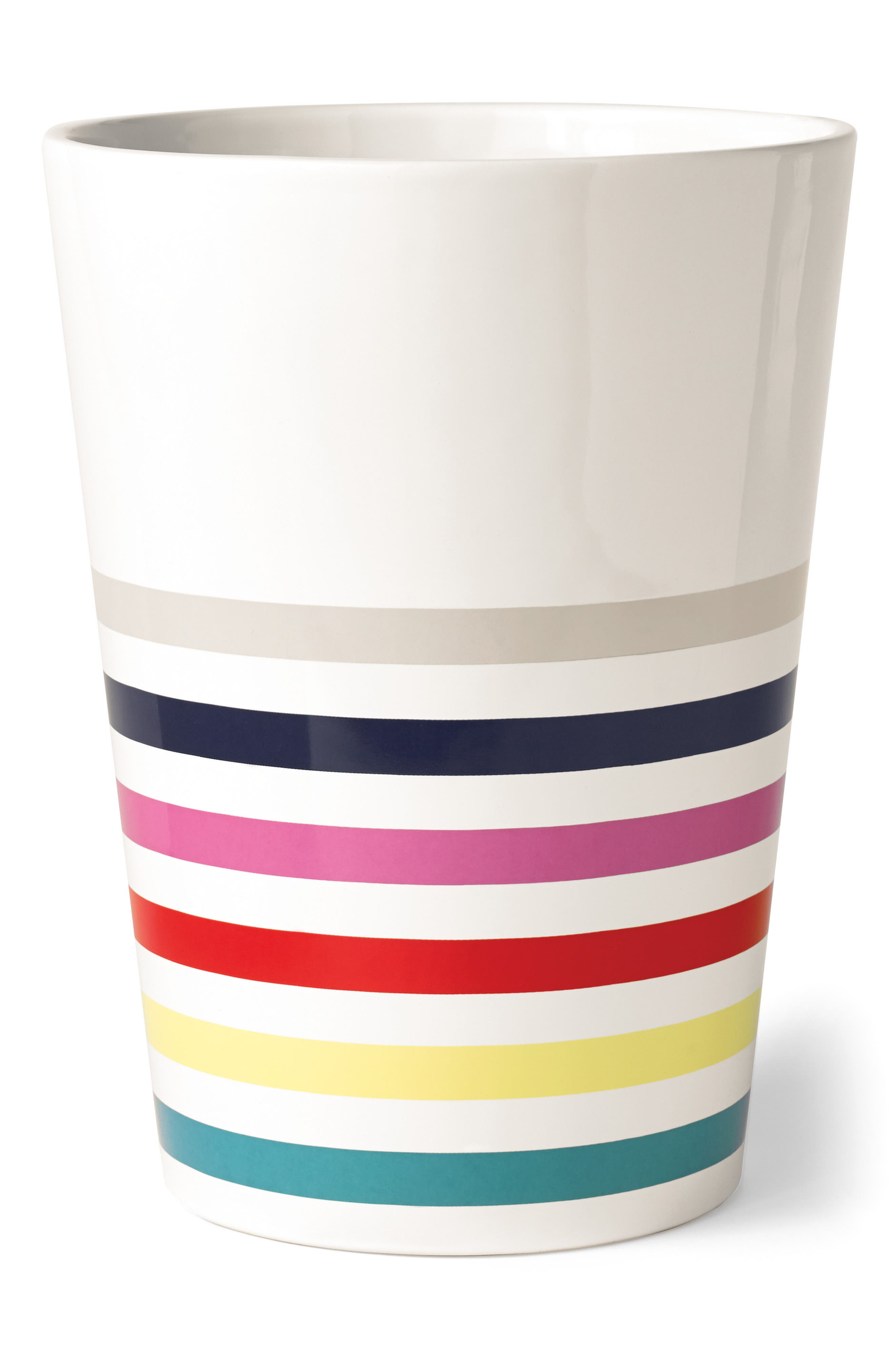 kate spade new york candy stripe wastebasket