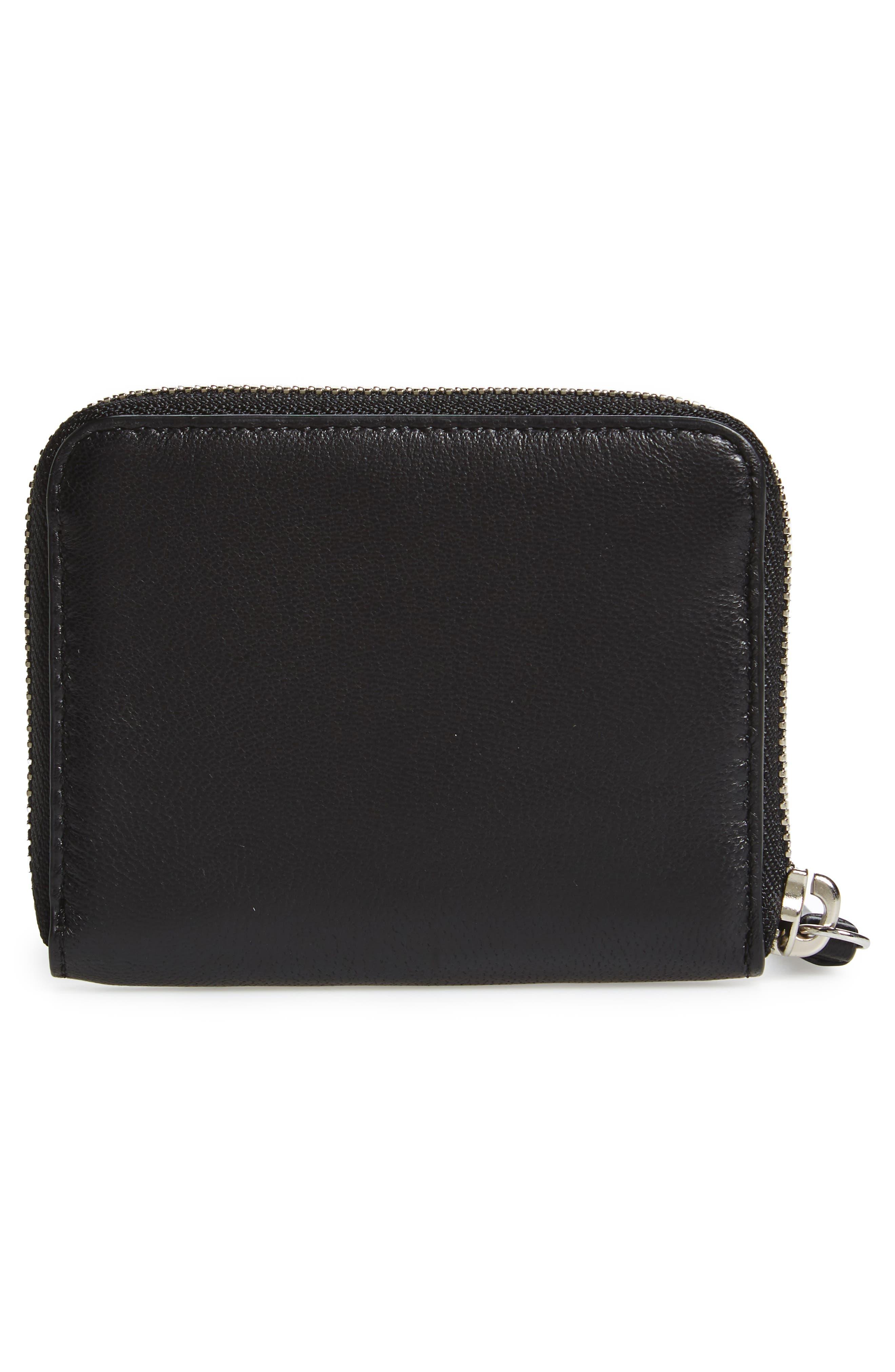 Kanda Mini Zip Wallet,                             Alternate thumbnail 3, color,                             Black