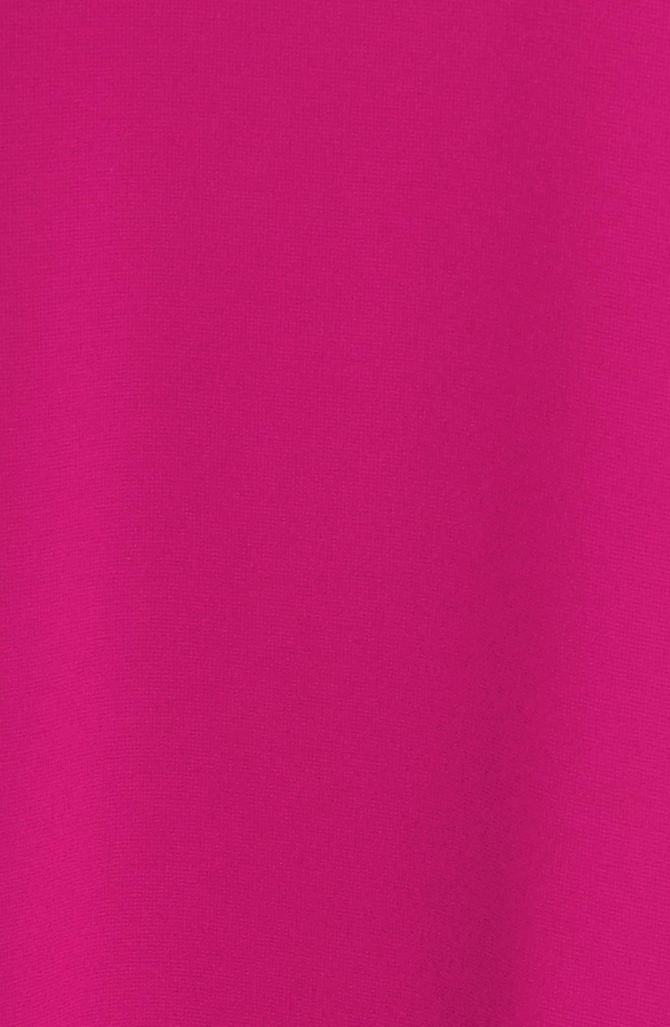 Roll Neck Chiffon Dress,                             Alternate thumbnail 6, color,                             Magenta