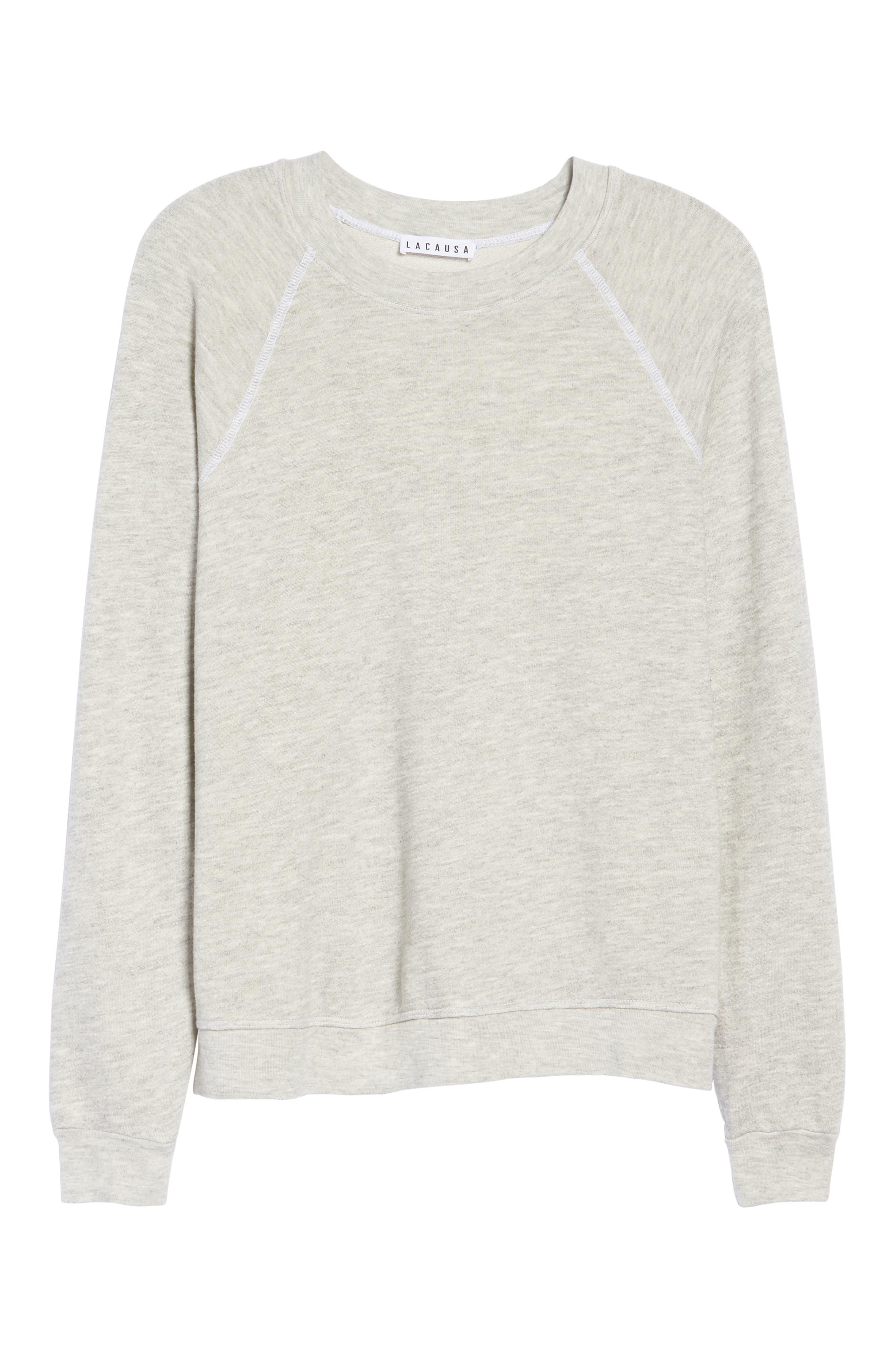 Favorite Sweatshirt,                             Alternate thumbnail 4, color,                             Light Heather Terry