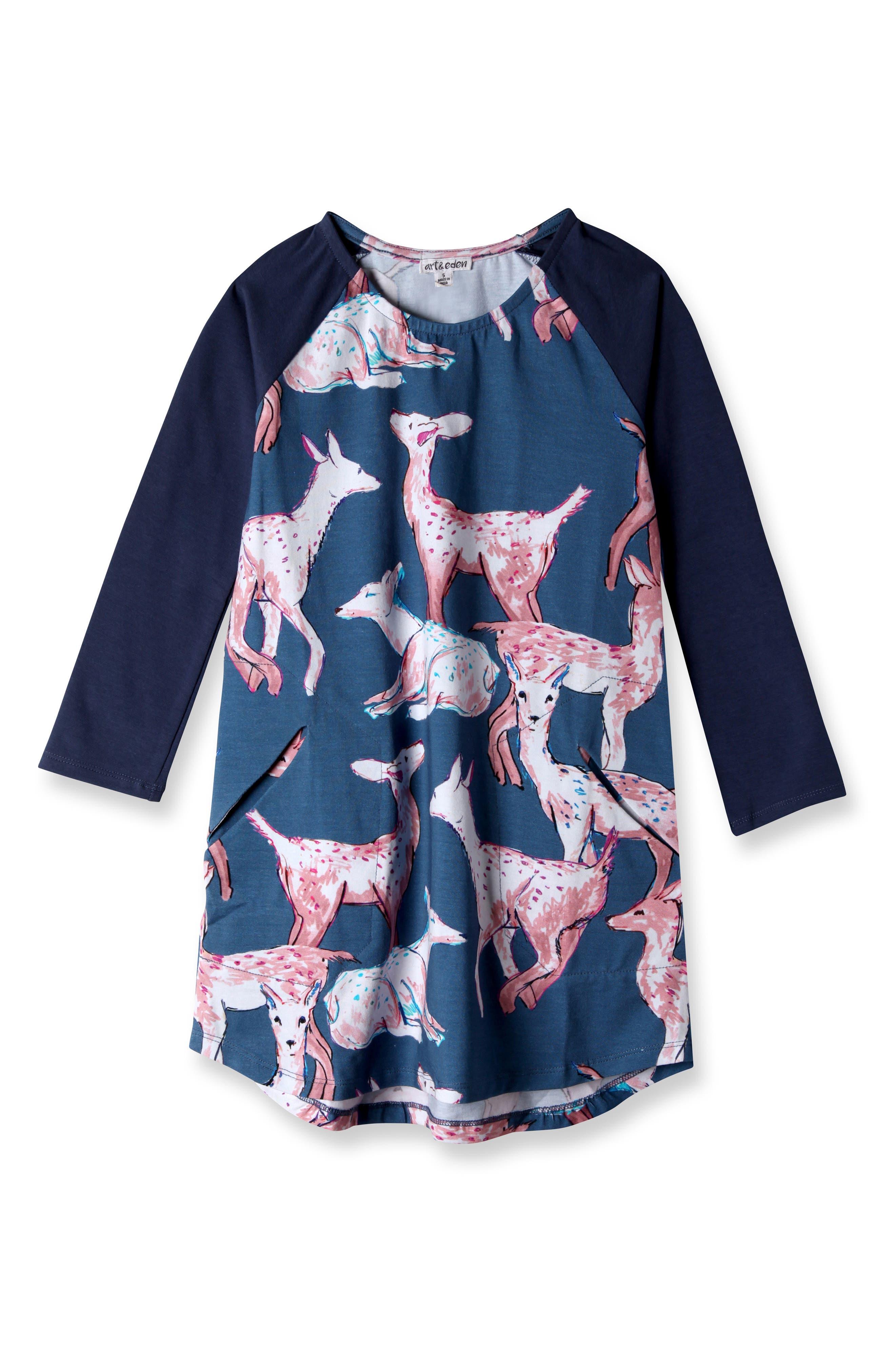 Main Image - Art & Eden Luna Dress (Toddler Girls & Little Girls)