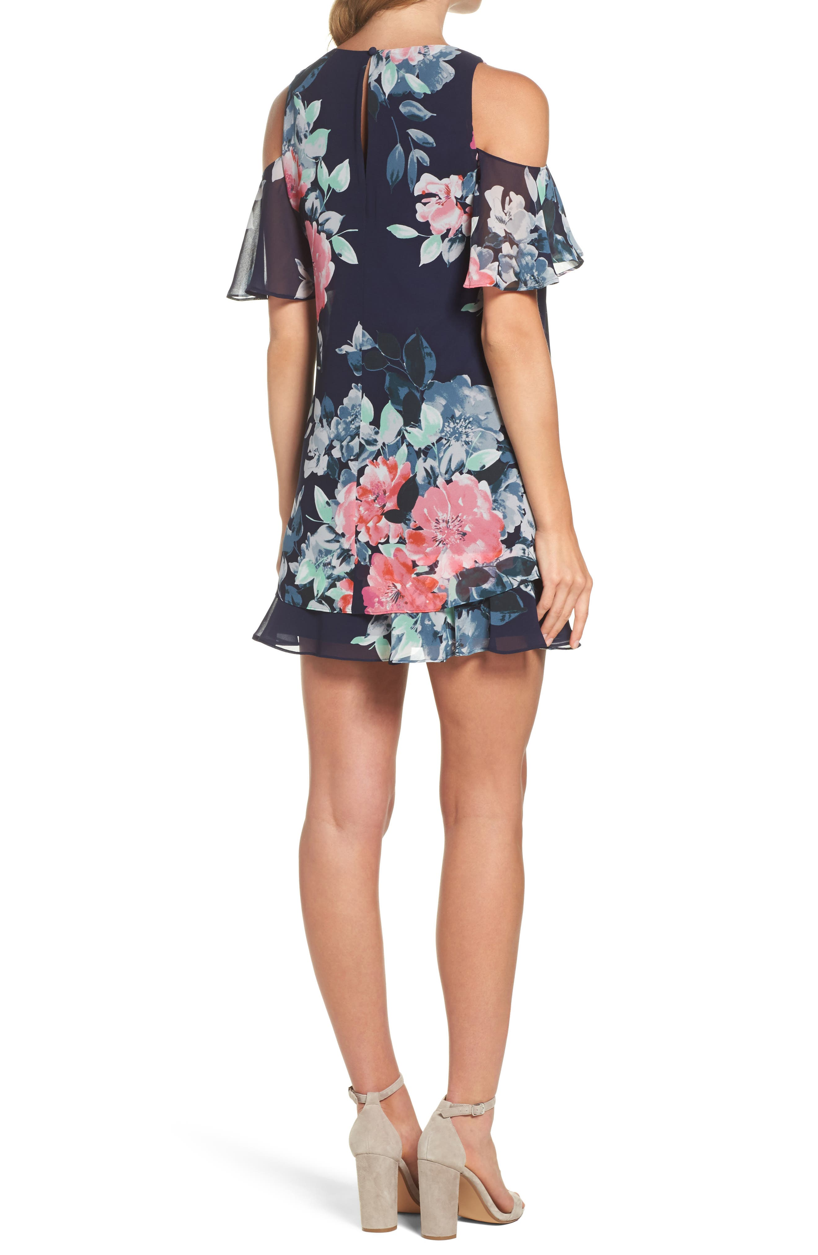 Alternate Image 2  - Eliza J Tiered Chiffon Shift Dress