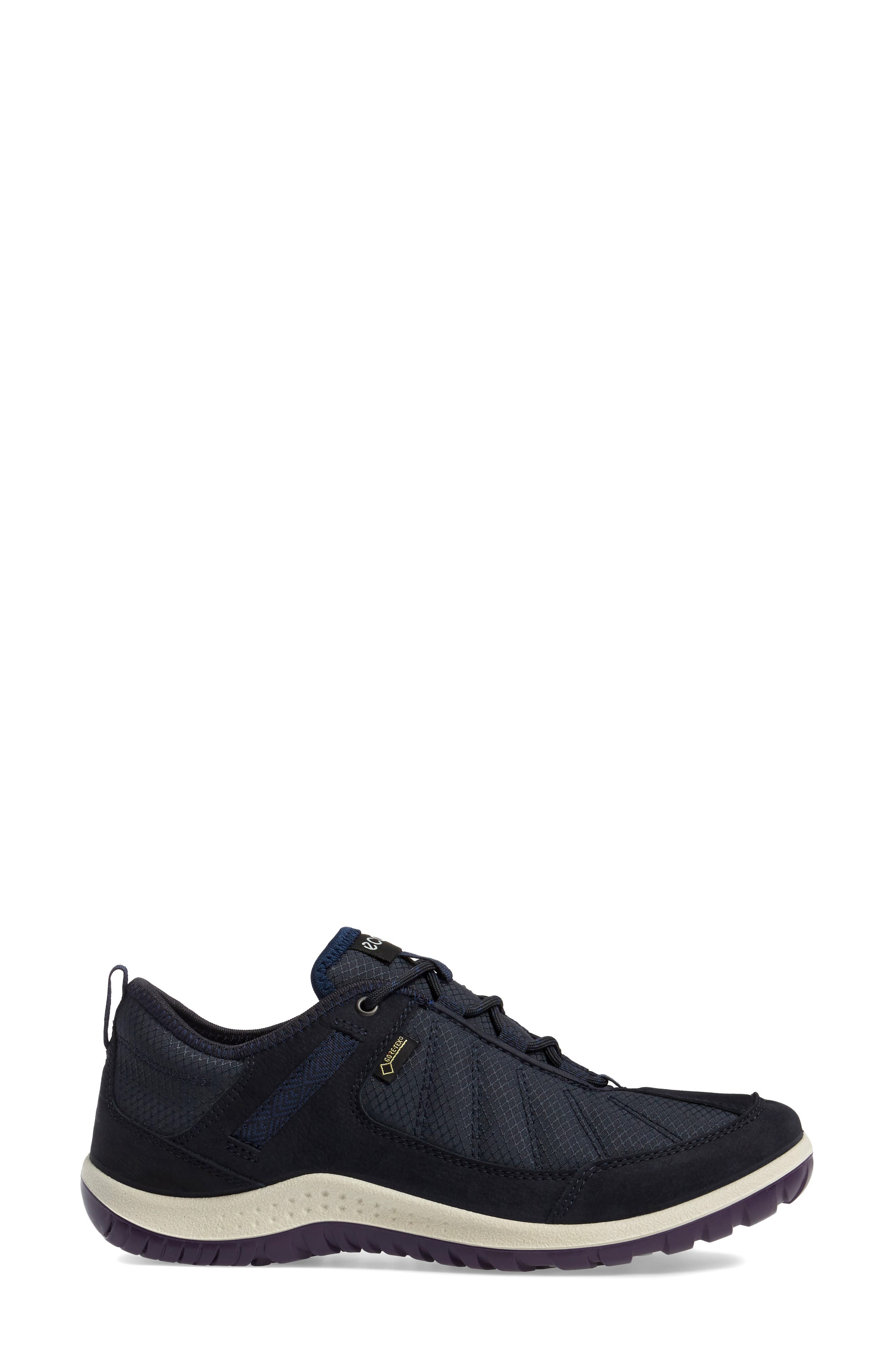 Aspina GTX Waterproof Sneaker,                             Alternate thumbnail 3, color,                             Navy Leather