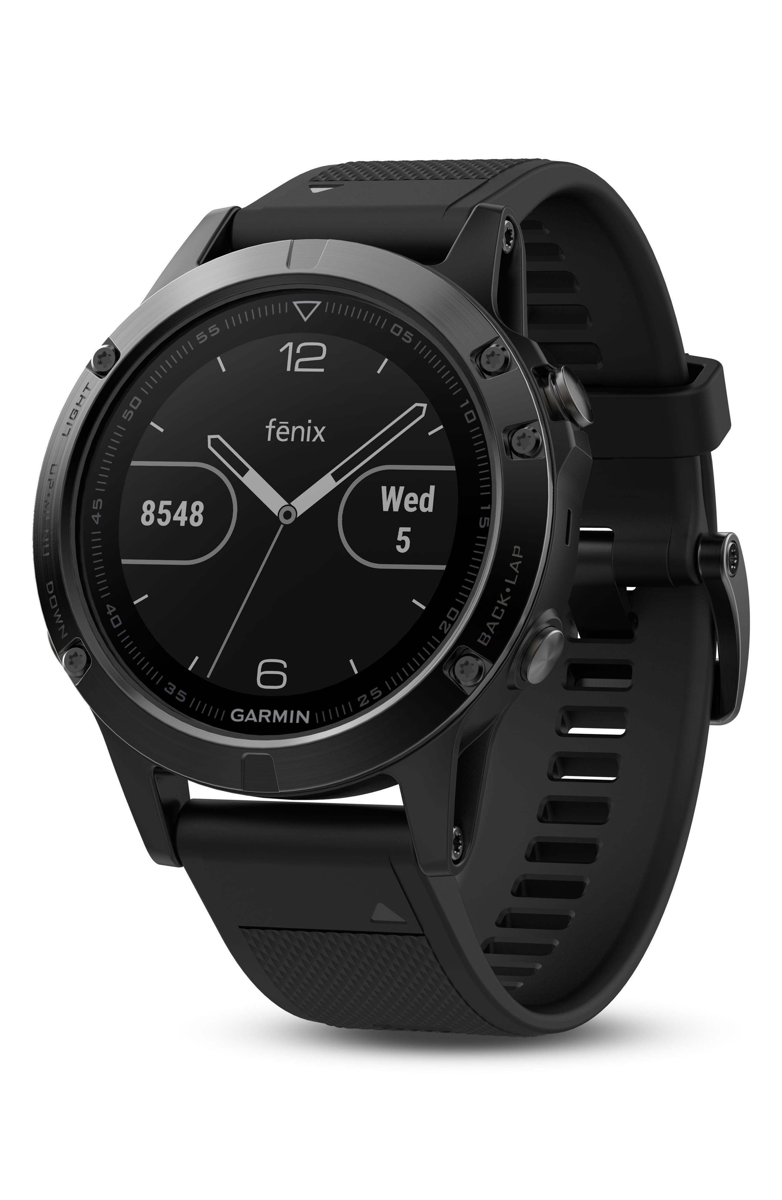 Alternate Image 5  - Garmin Fenix 5 Multisport GPS Smart Tracker Watch, 47mm