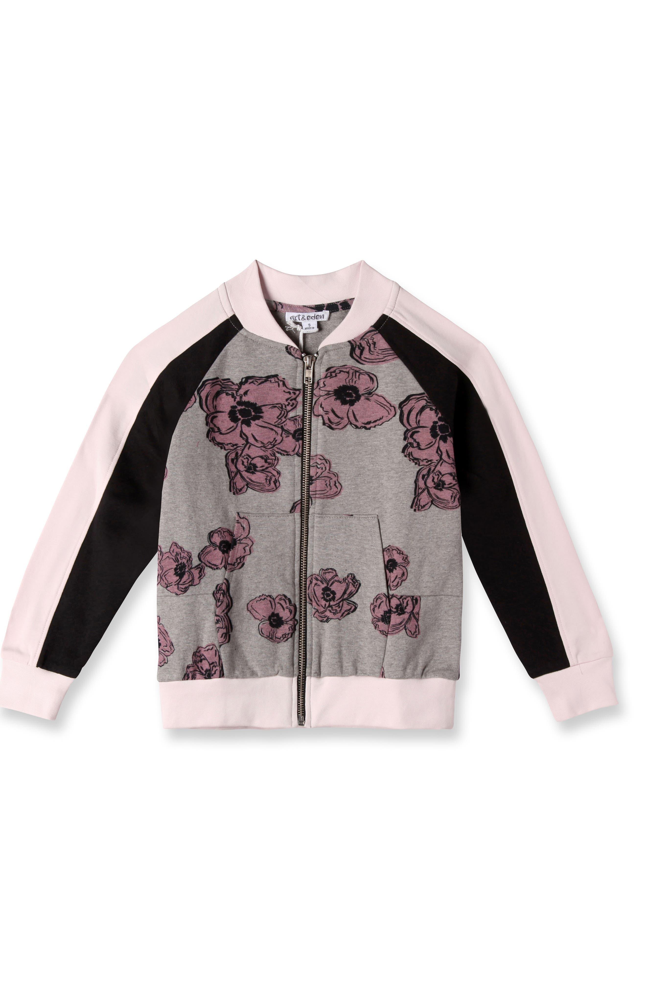 Art & Eden Floral Bomber Jacket (Toddler Girls & Little Girls)