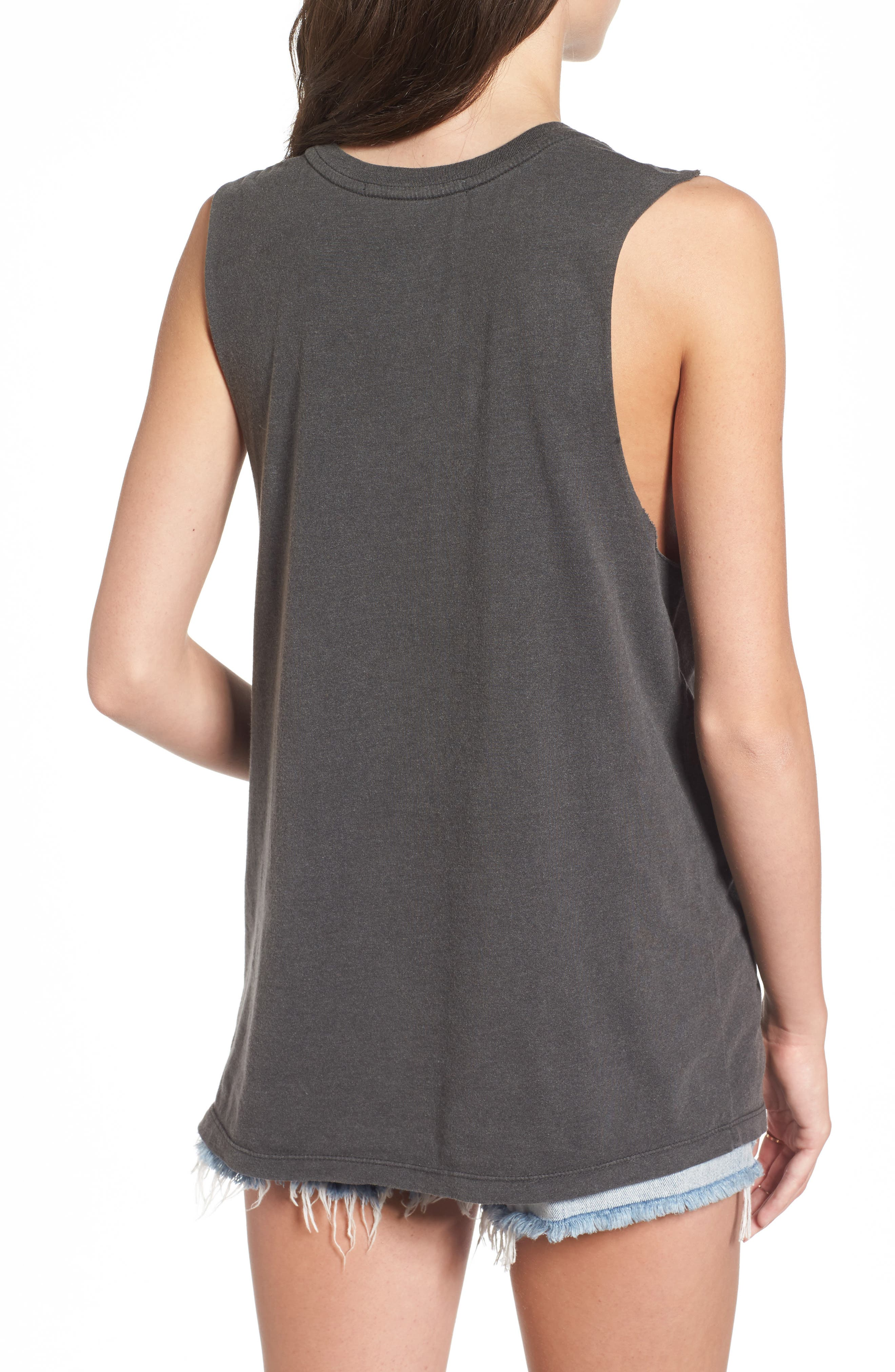 RHCP Logo Muscle Tank,                             Alternate thumbnail 2, color,                             Faded Black
