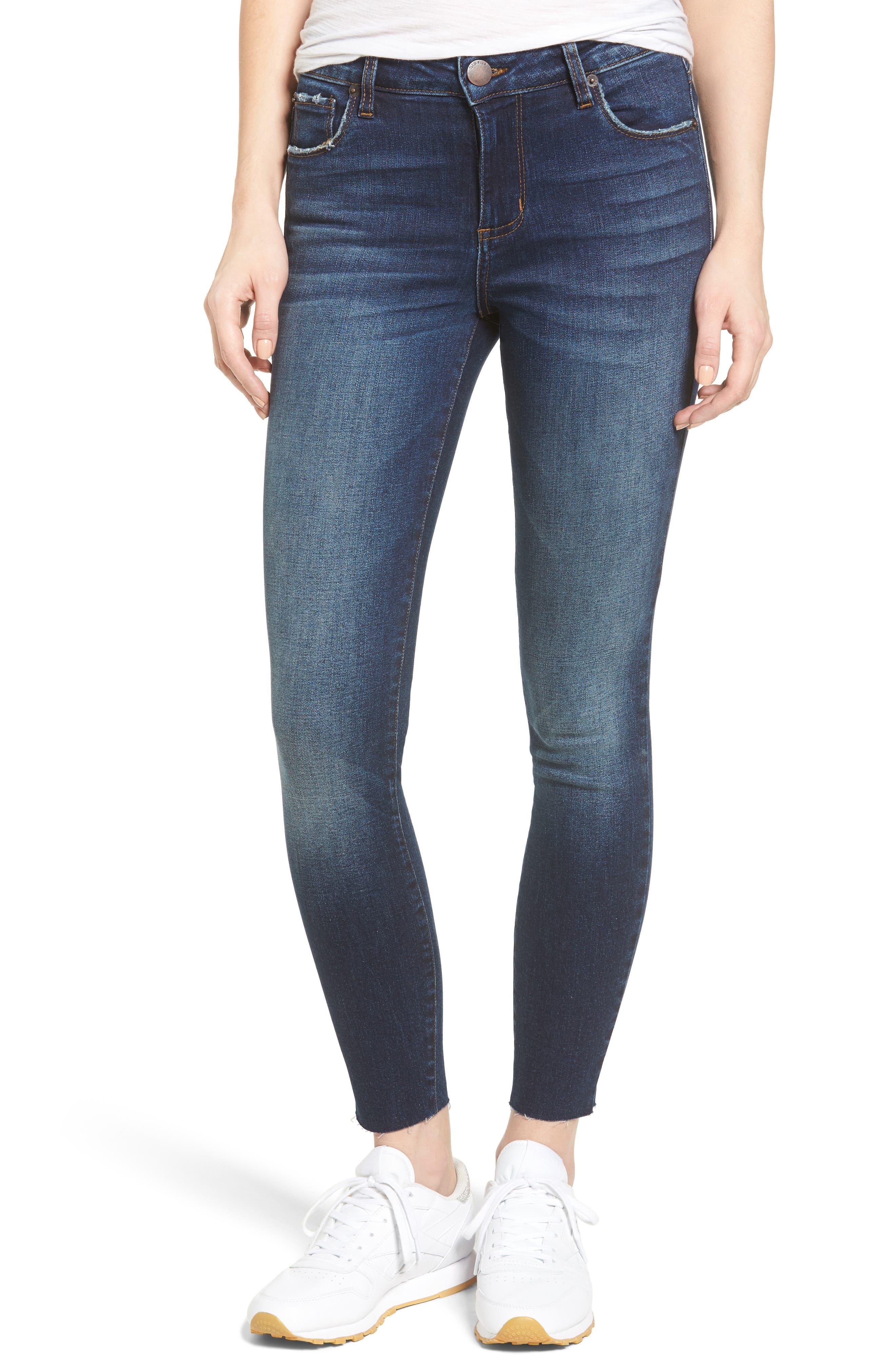 Emma Ankle Skinny Jeans,                         Main,                         color, Getty Wash/ Dark Base