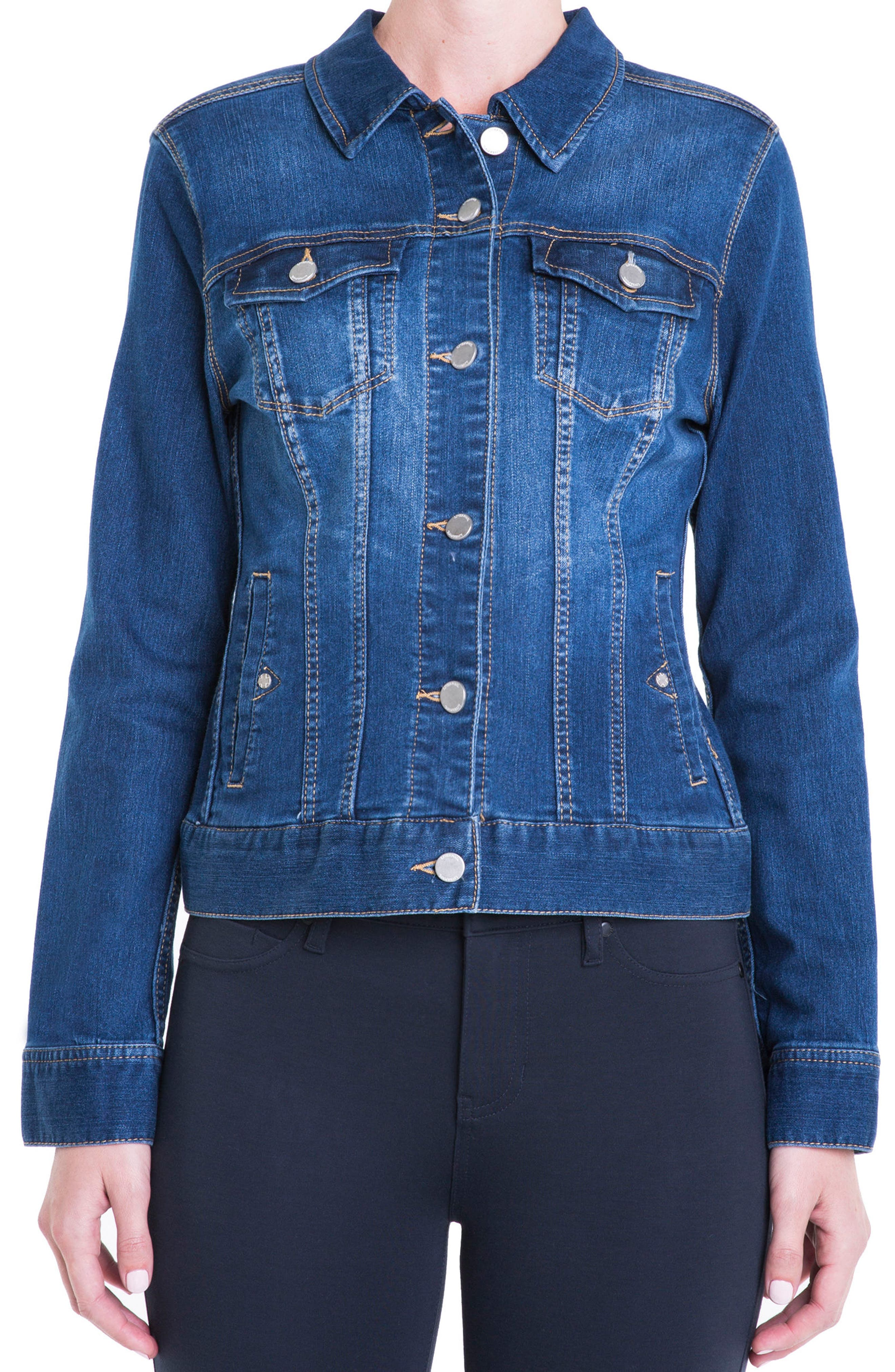 Alternate Image 1 Selected - Liverpool Jeans Company Denim Jacket (Petite)