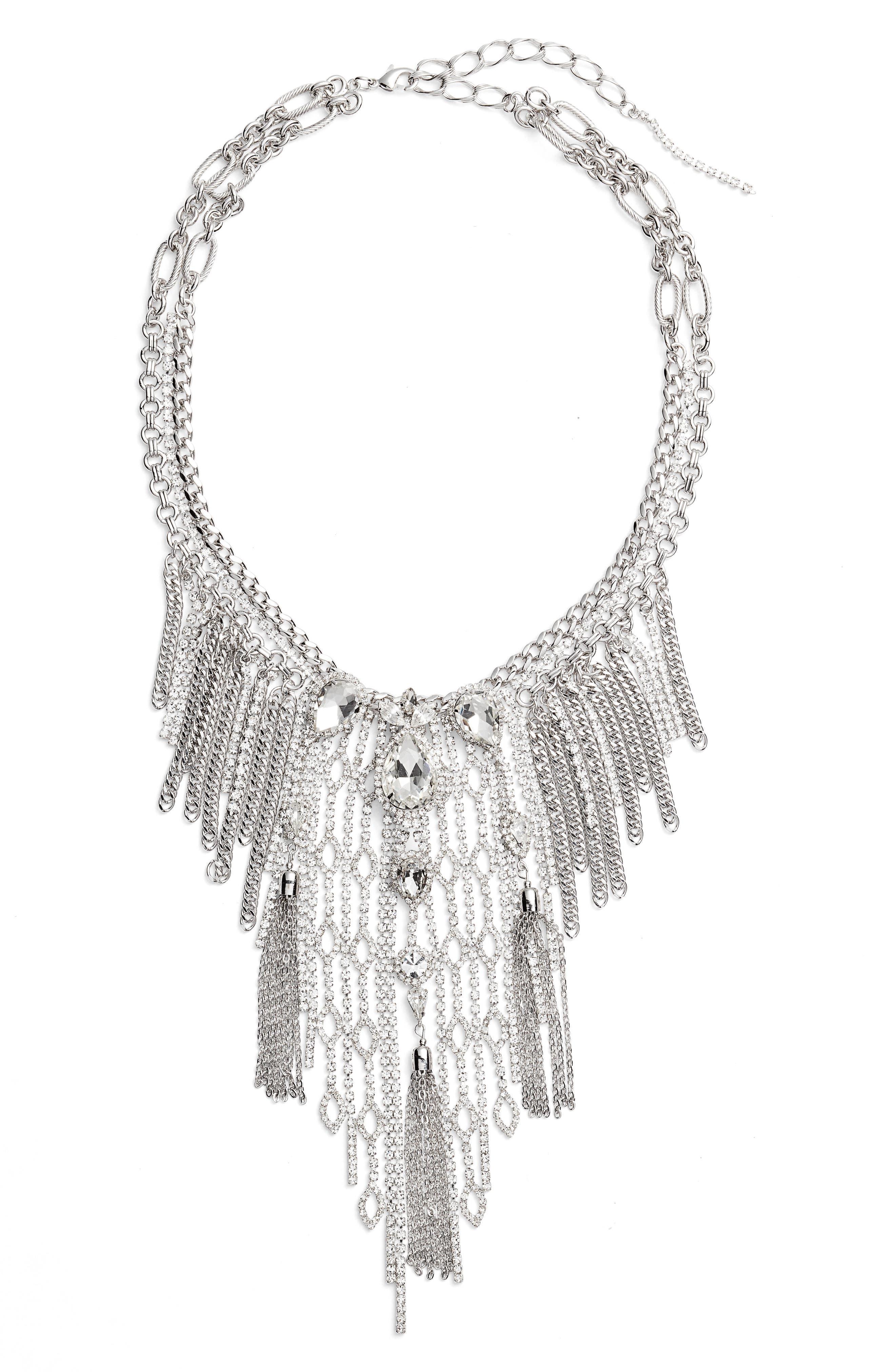 Cristabelle Chain Fringe Necklace