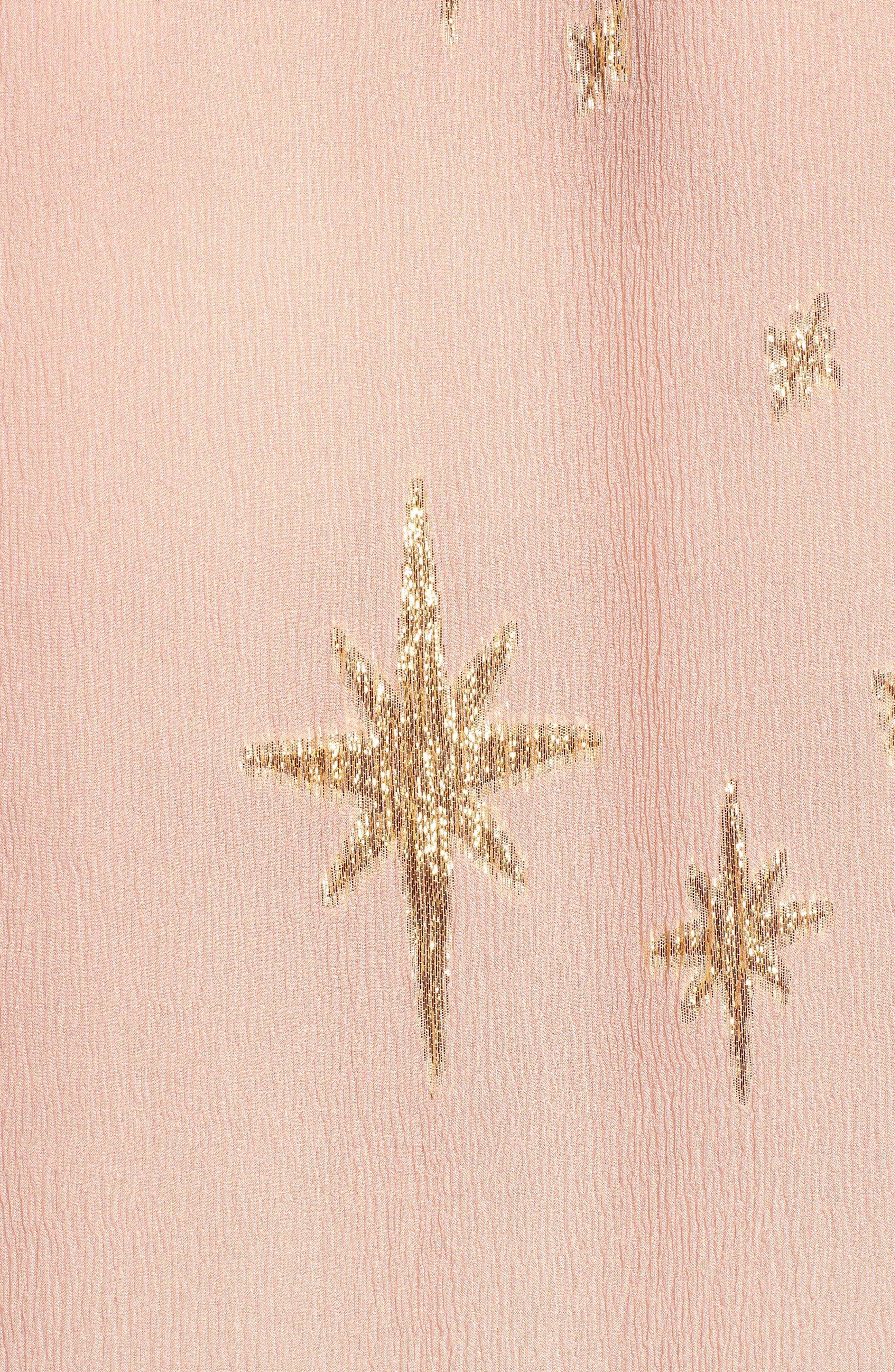 Gilded Star Blouse,                             Alternate thumbnail 5, color,                             Rose Gold