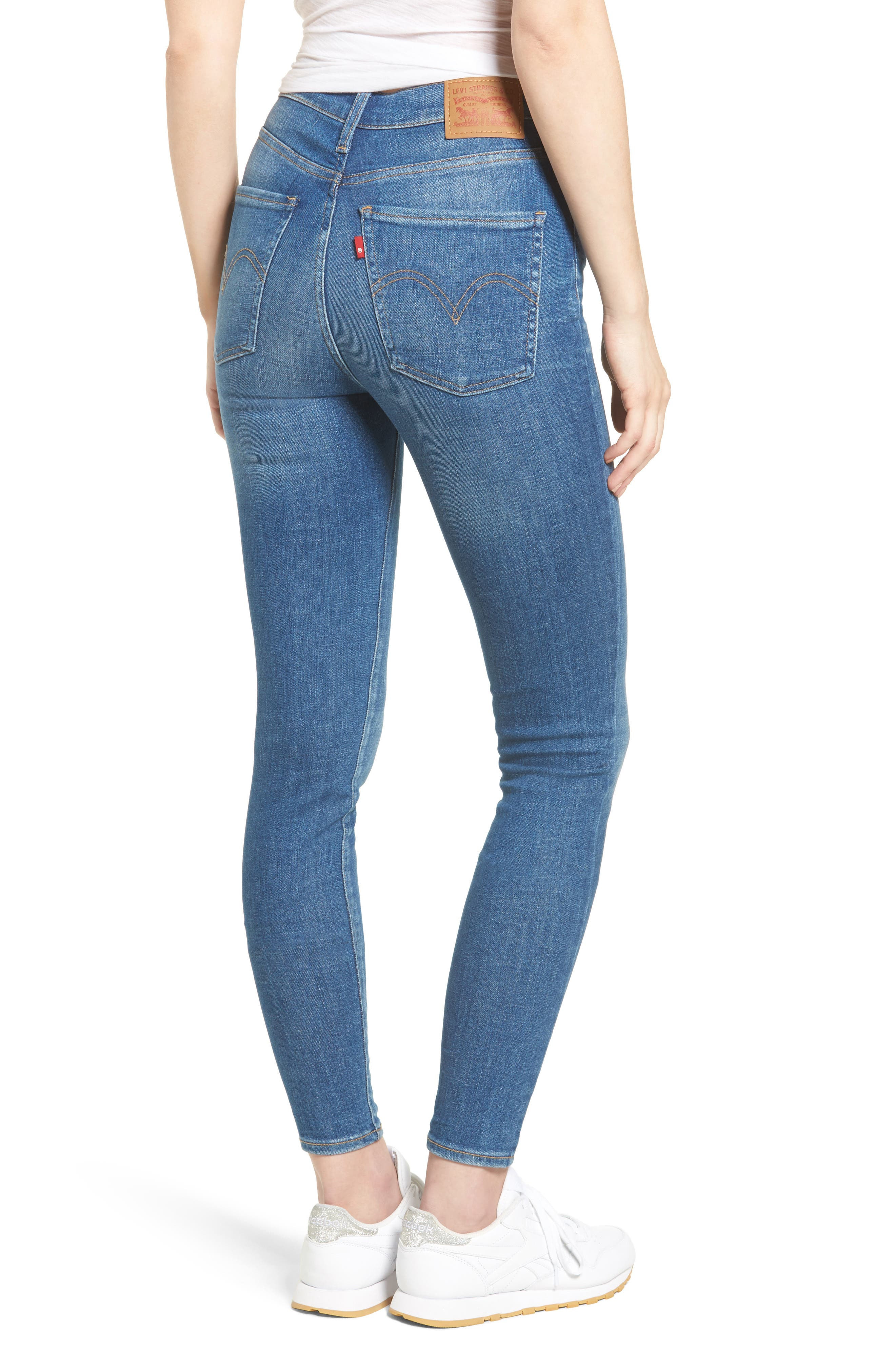 Mile High Skinny Jeans,                             Alternate thumbnail 2, color,                             Shut The Front Door