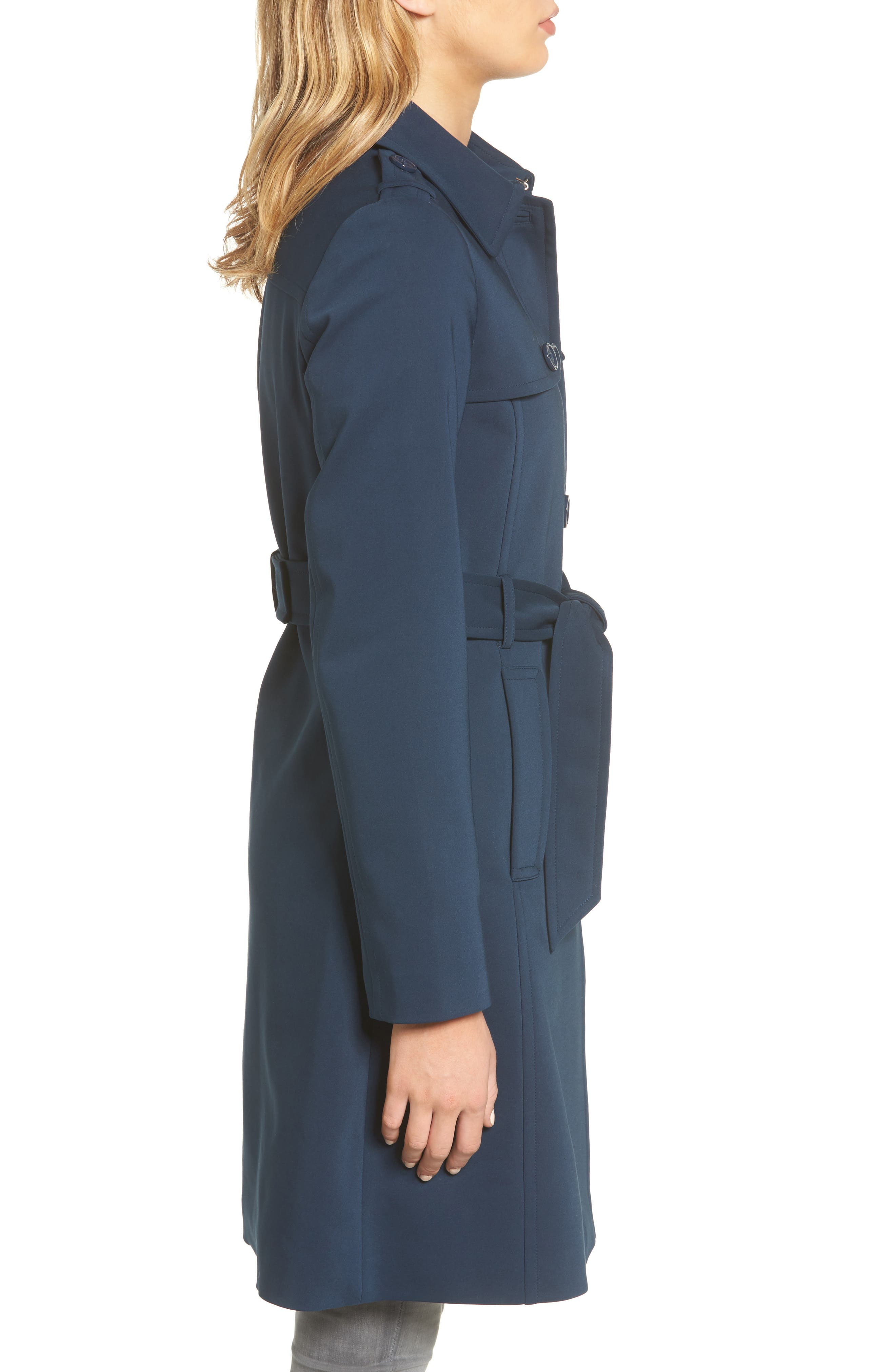 3-in-1 trench coat,                             Alternate thumbnail 3, color,                             Rich Navy