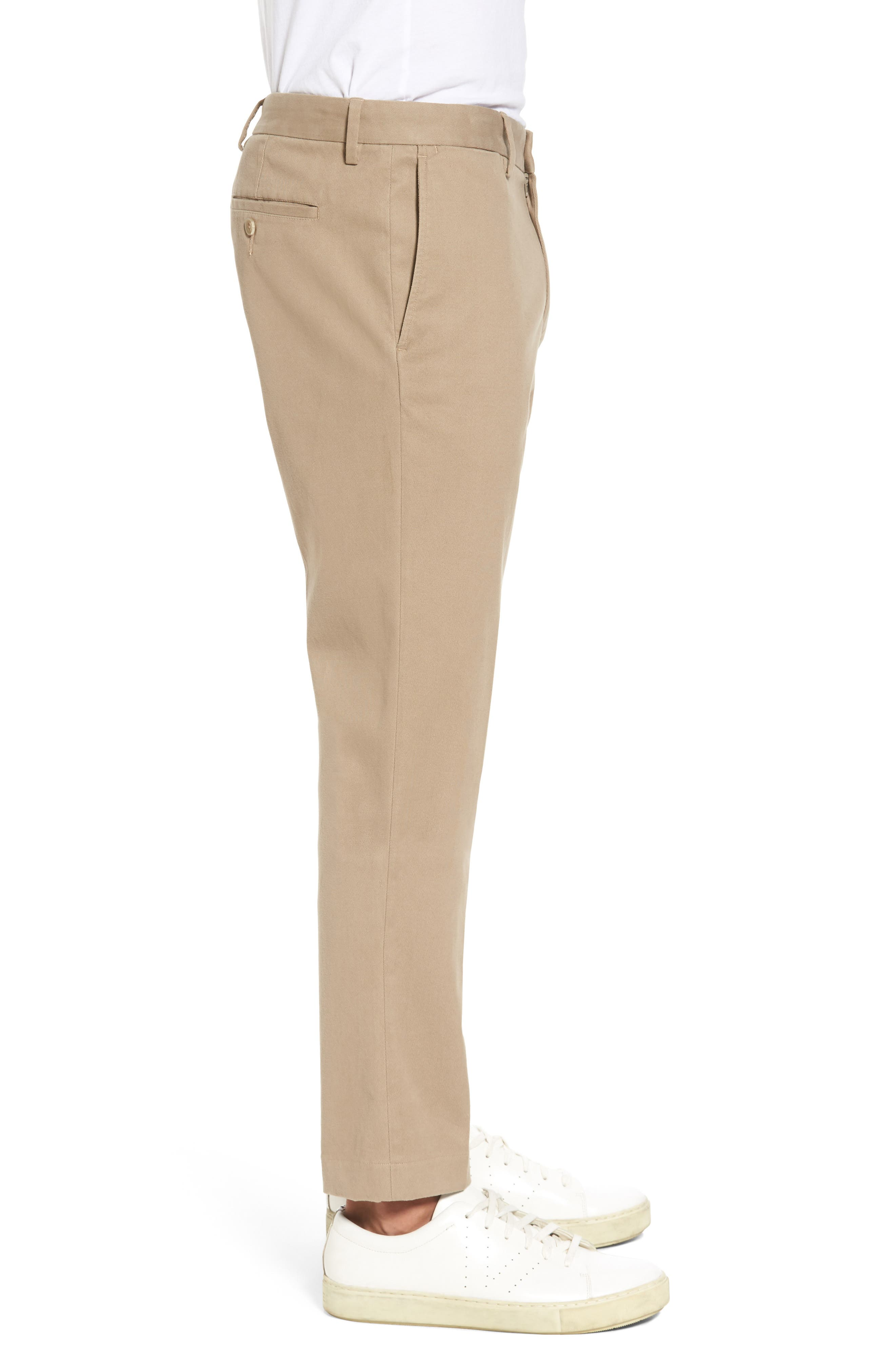 Slim Chinos,                             Alternate thumbnail 3, color,                             Khaki