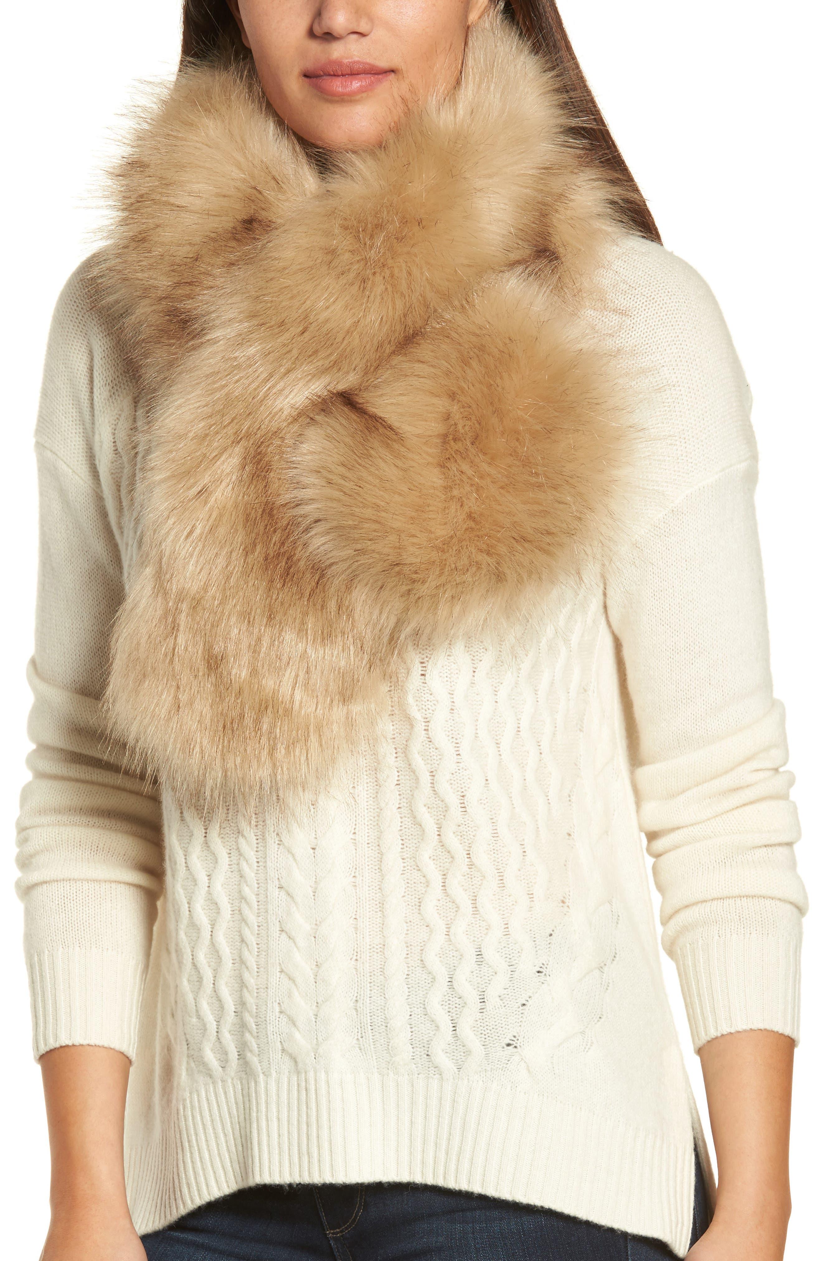 Main Image - Halogen® Faux Fur Stole