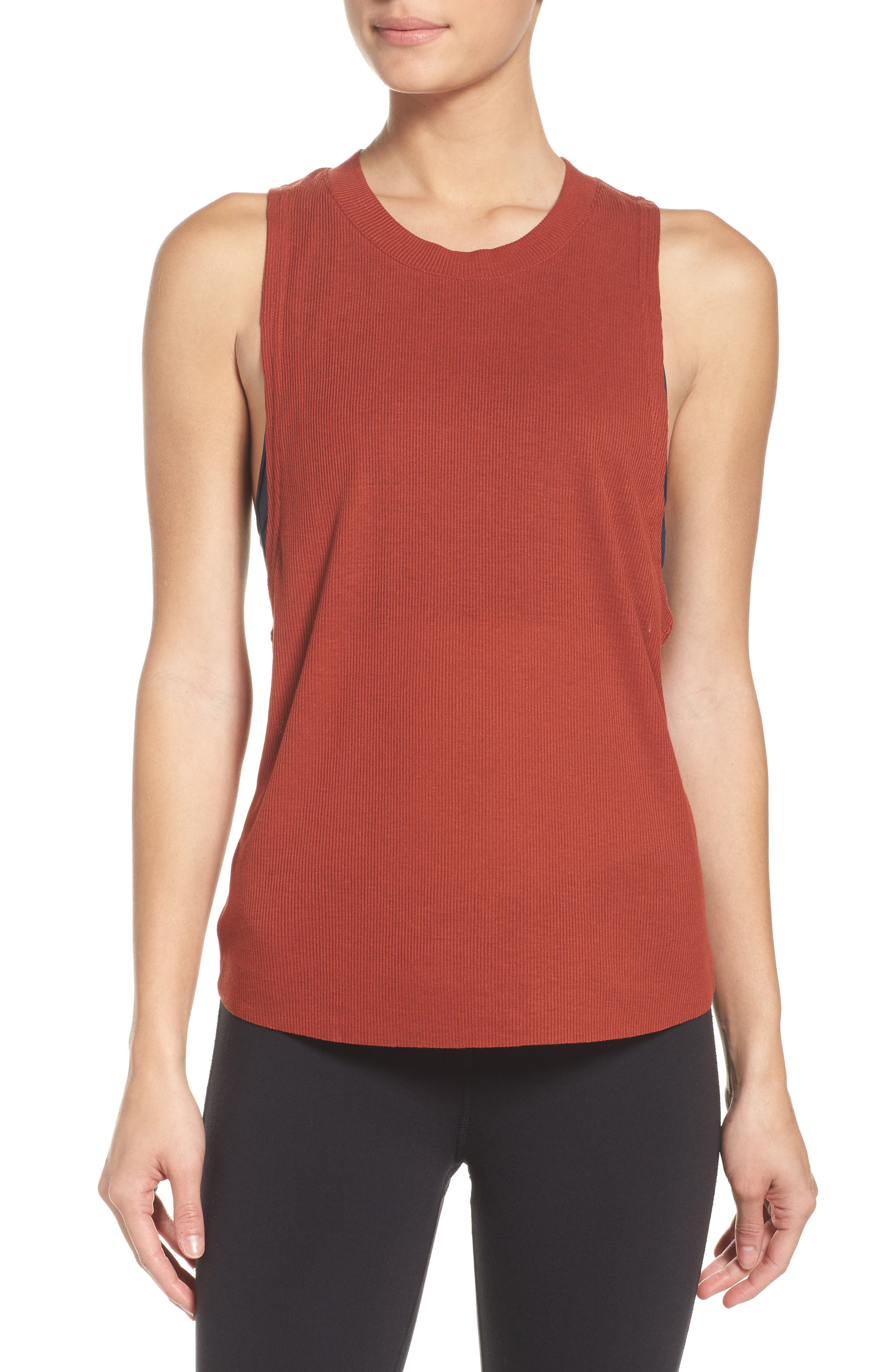 Alo Heat Wave Ribbed Muscle Tee